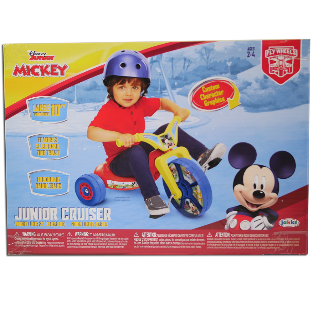 Disney Mickey Mouse Junior Cruiser Kids Fly Wheel Tricycle