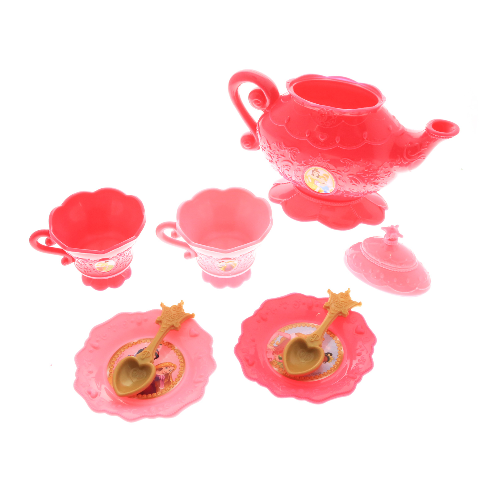 Disney Princess Pink Pretend Play Tea Set for Two 8 Pieces
