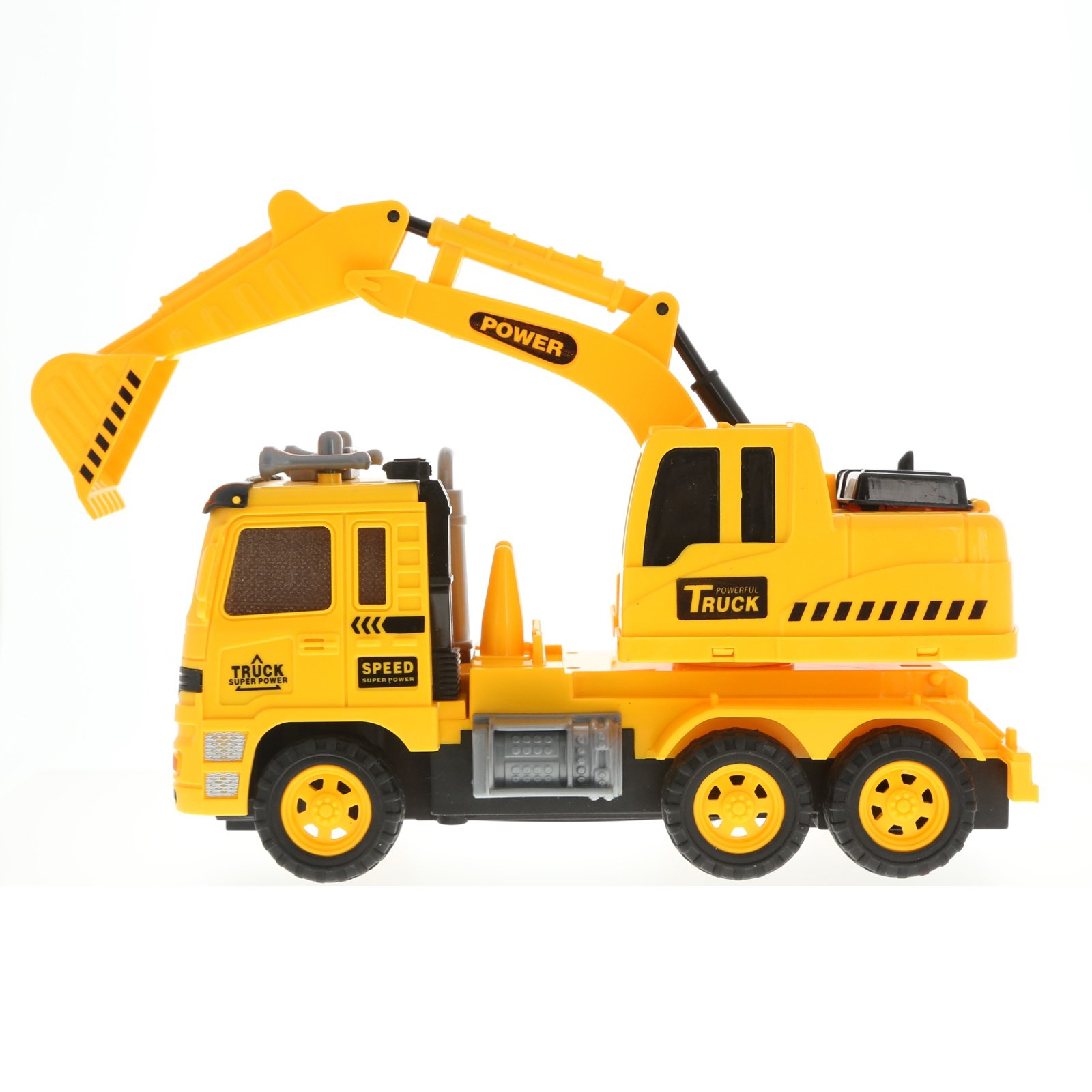 Radio Control Excavator Construction Truck Backhoe RC Lights and Sounds