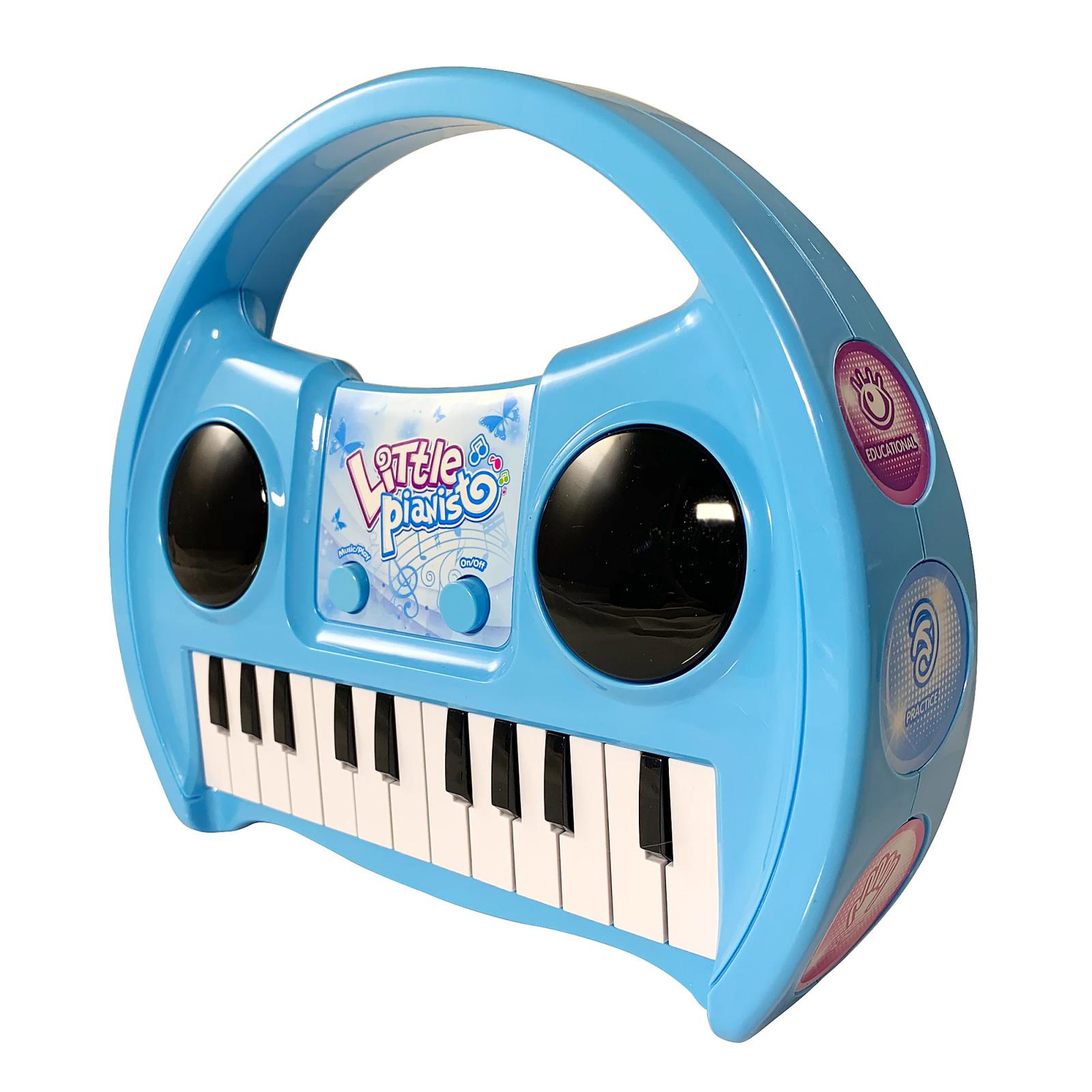KidPlay Products Little Pianist Singing Musical Karaoke Keyboard Lights Up Blue