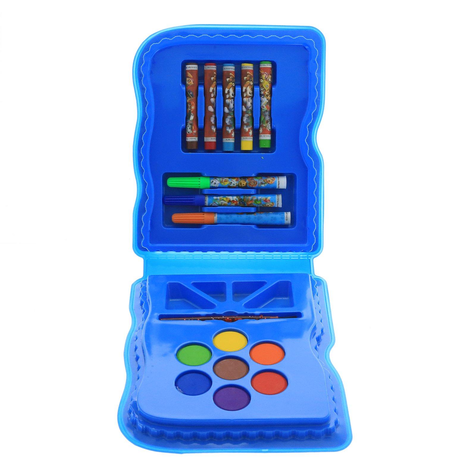 Nickelodeon Paw Patrol Kids Art Case 16pc Arts and Crafts Kit - Blue