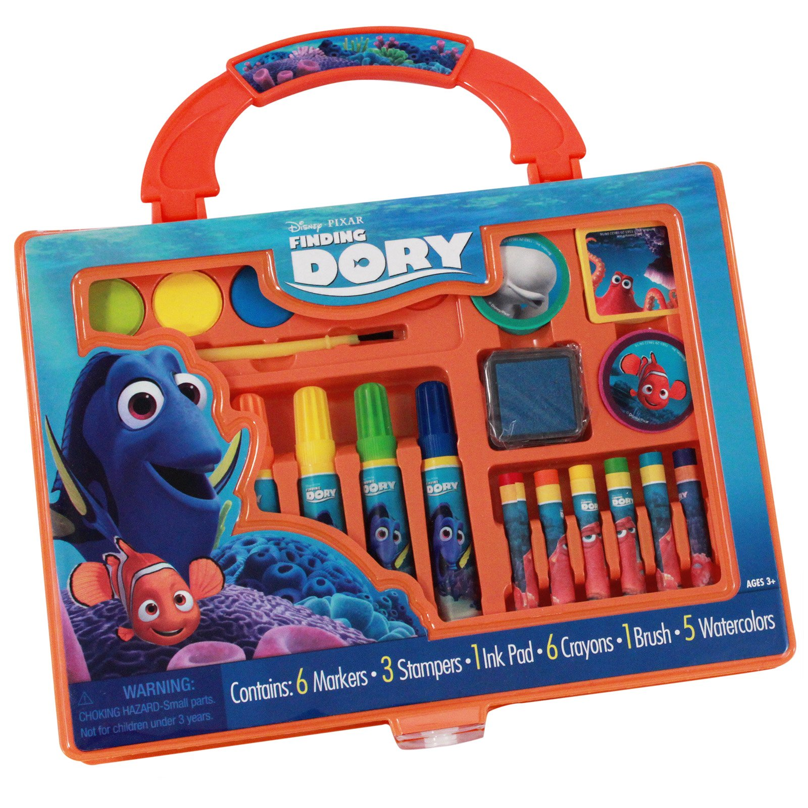Disney Pixar Finding Dory Art Case Paint and Stamp Kit 22pc