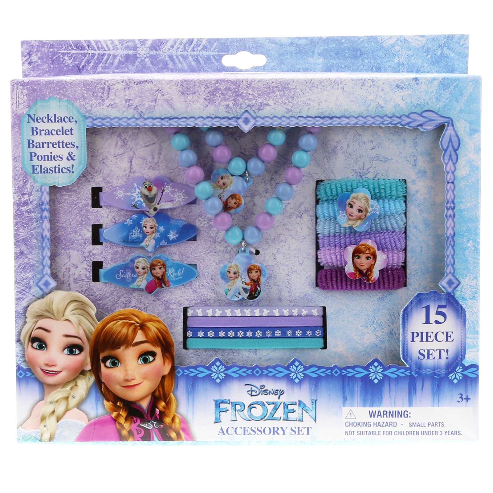Frozen 15pc Hair Beauty Fashion Dress Up Pretend Play Costume Jewel Princess Set