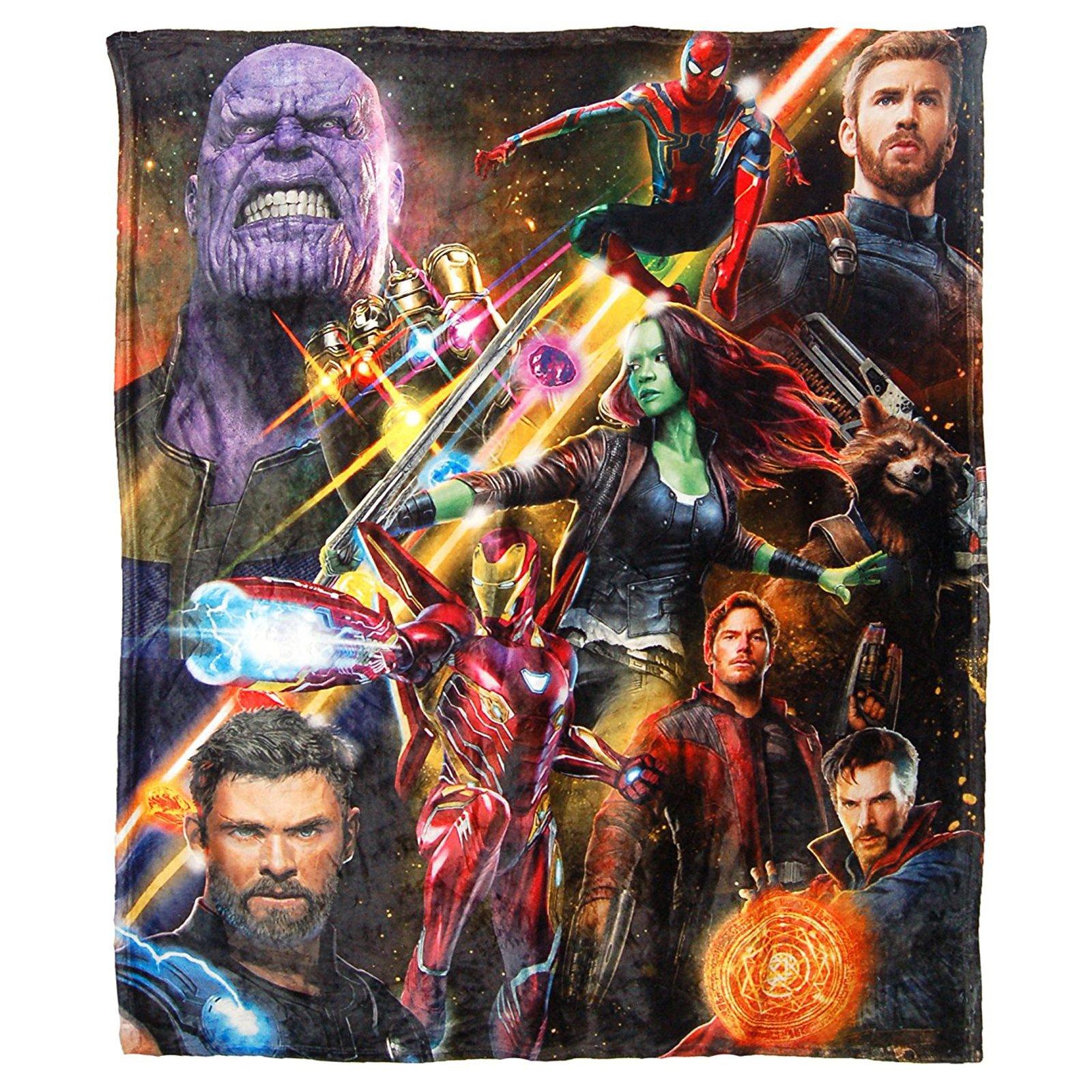 Marvel Avengers Infinity War Fleece Throw Blanket Kids Home Decor 45 x 60 Inch
