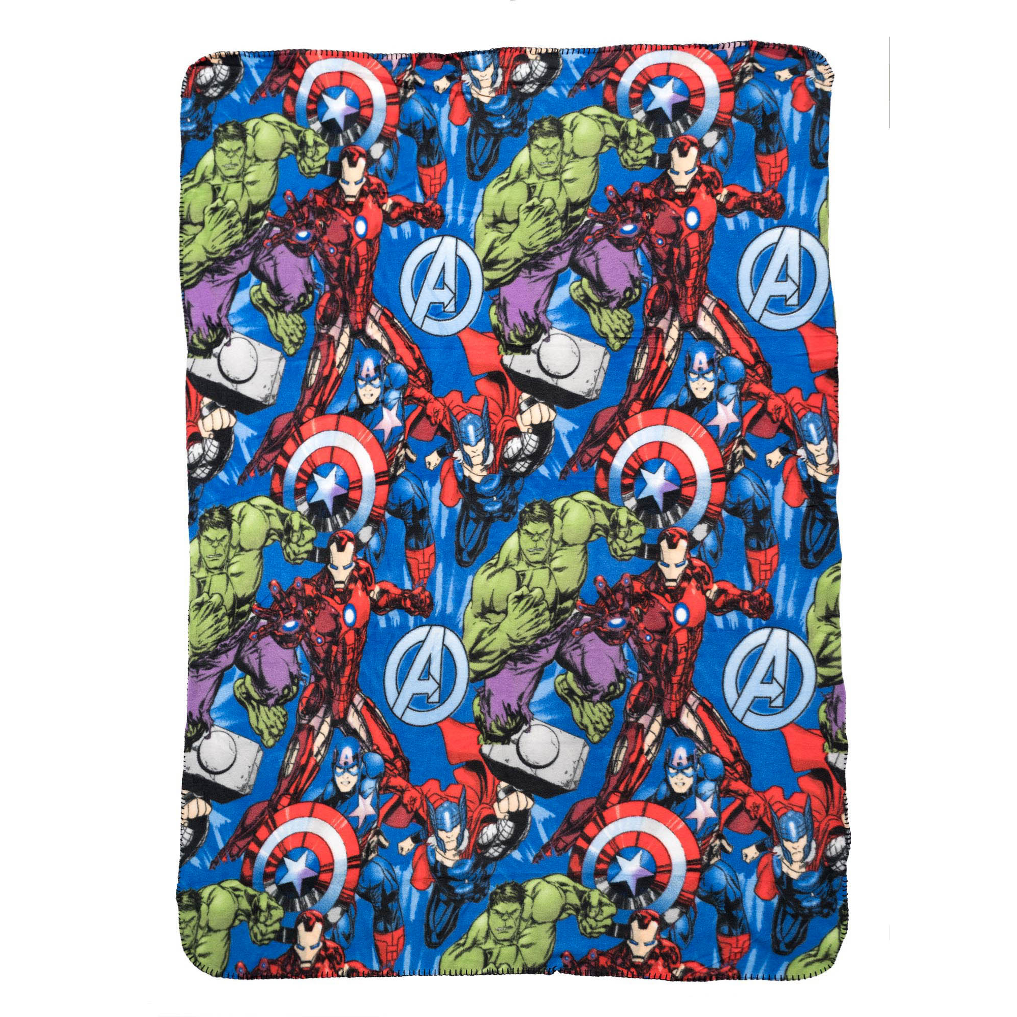 Marvel Avengers Plush Fleece Throw Blanket 45 x 60 Inch