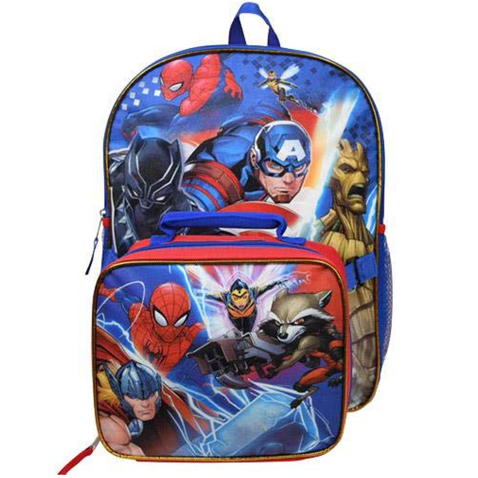 cdfac563fad Marvel Avengers Kids School Backpack with Lunch Bag Set Boys Travel Tote