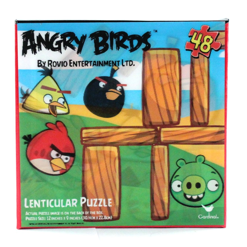48pc Angry Birds Small 3D Lenticular Changing Jigsaw Puzzle