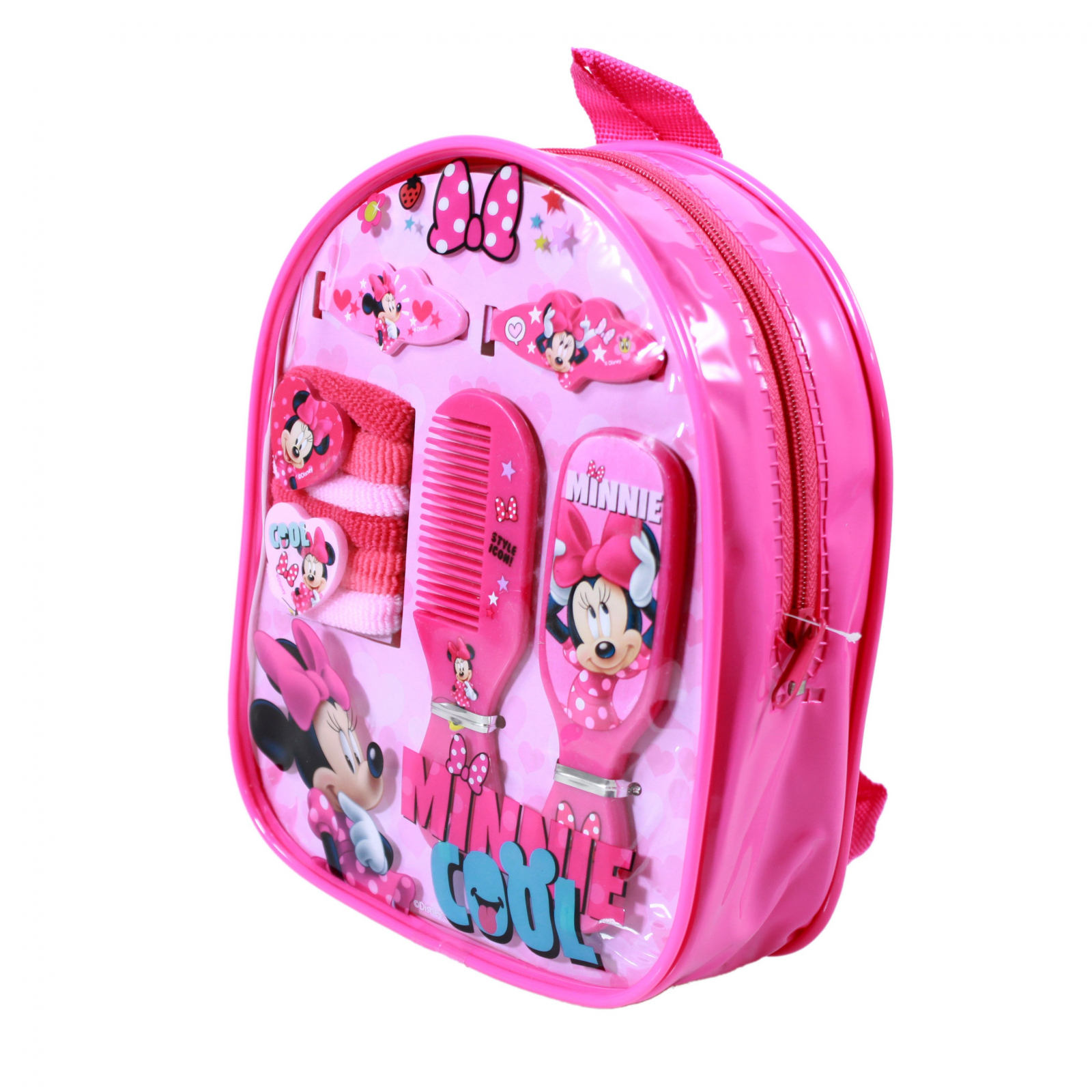 Disney Minnie Mouse Hair Accessory Mini Backpack 11pc Set