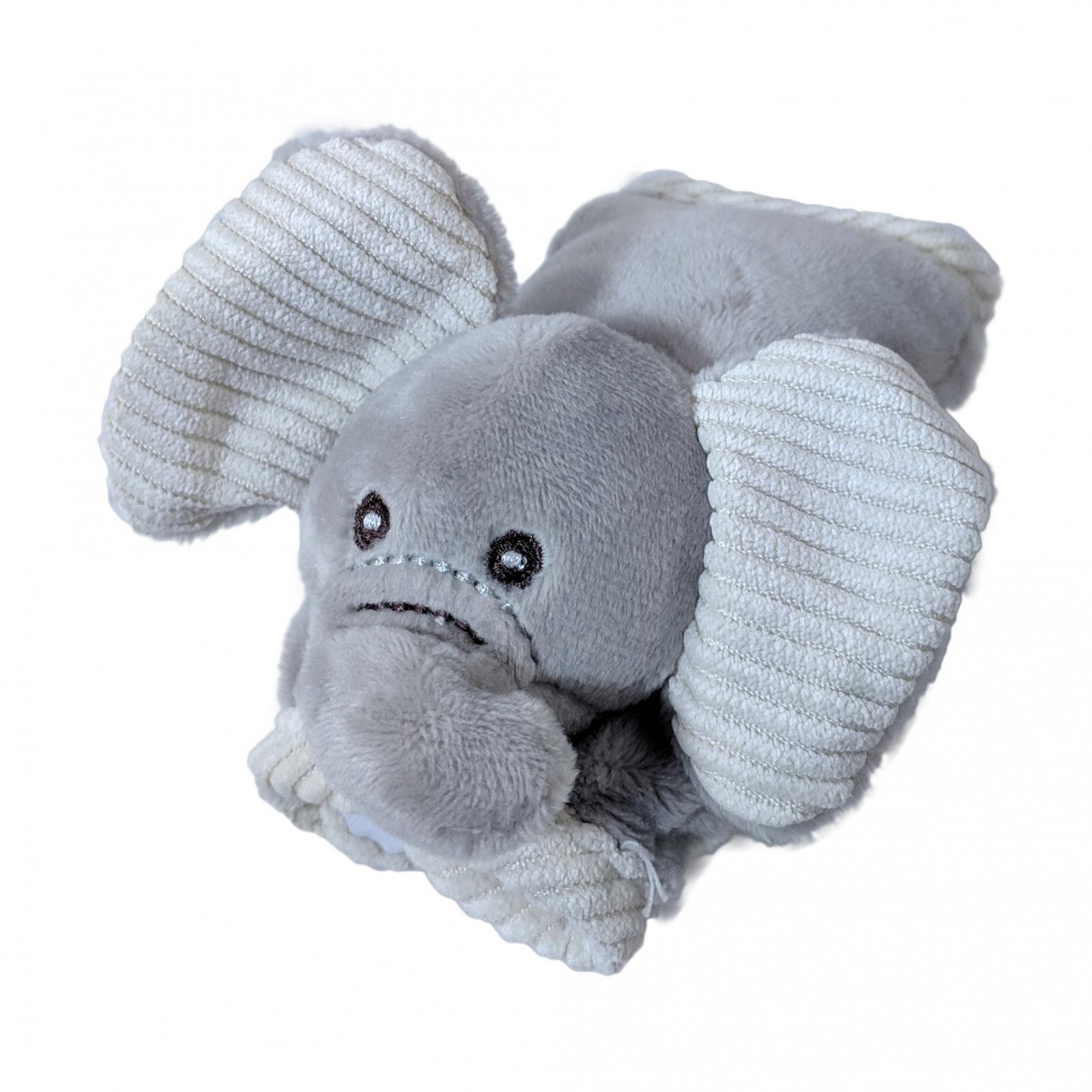 TychoTyke Baby Travel Elephant Seat Belt Covers Car Seat Grey with Corduroy Trim