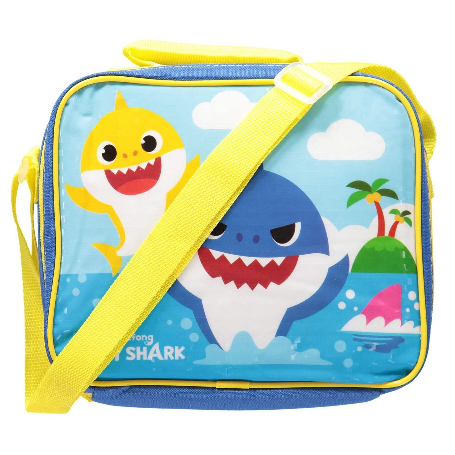 Pink Fong Baby Shark School Supplies Lunch Box