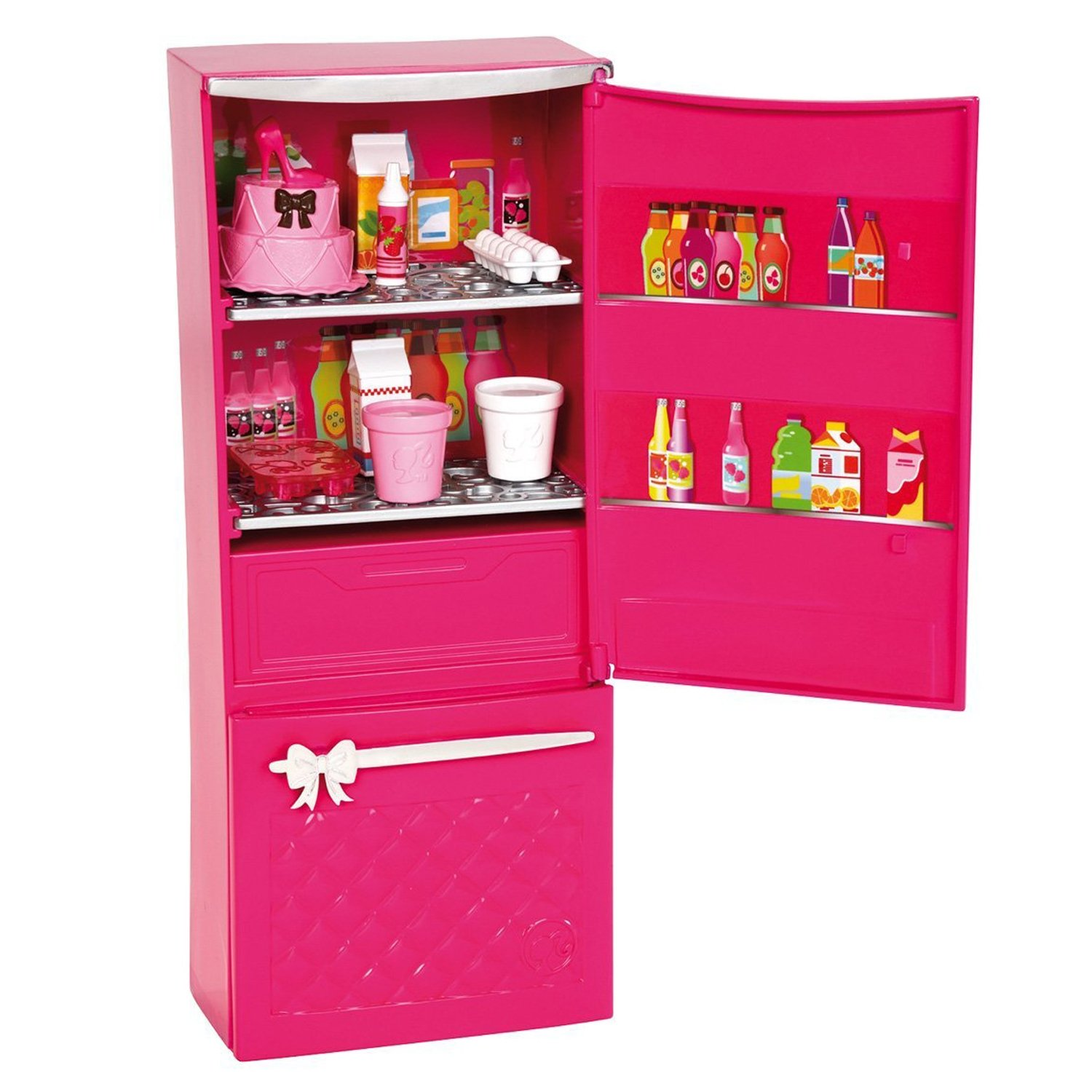 Barbie Glam Refrigerator Food & Accessories Set