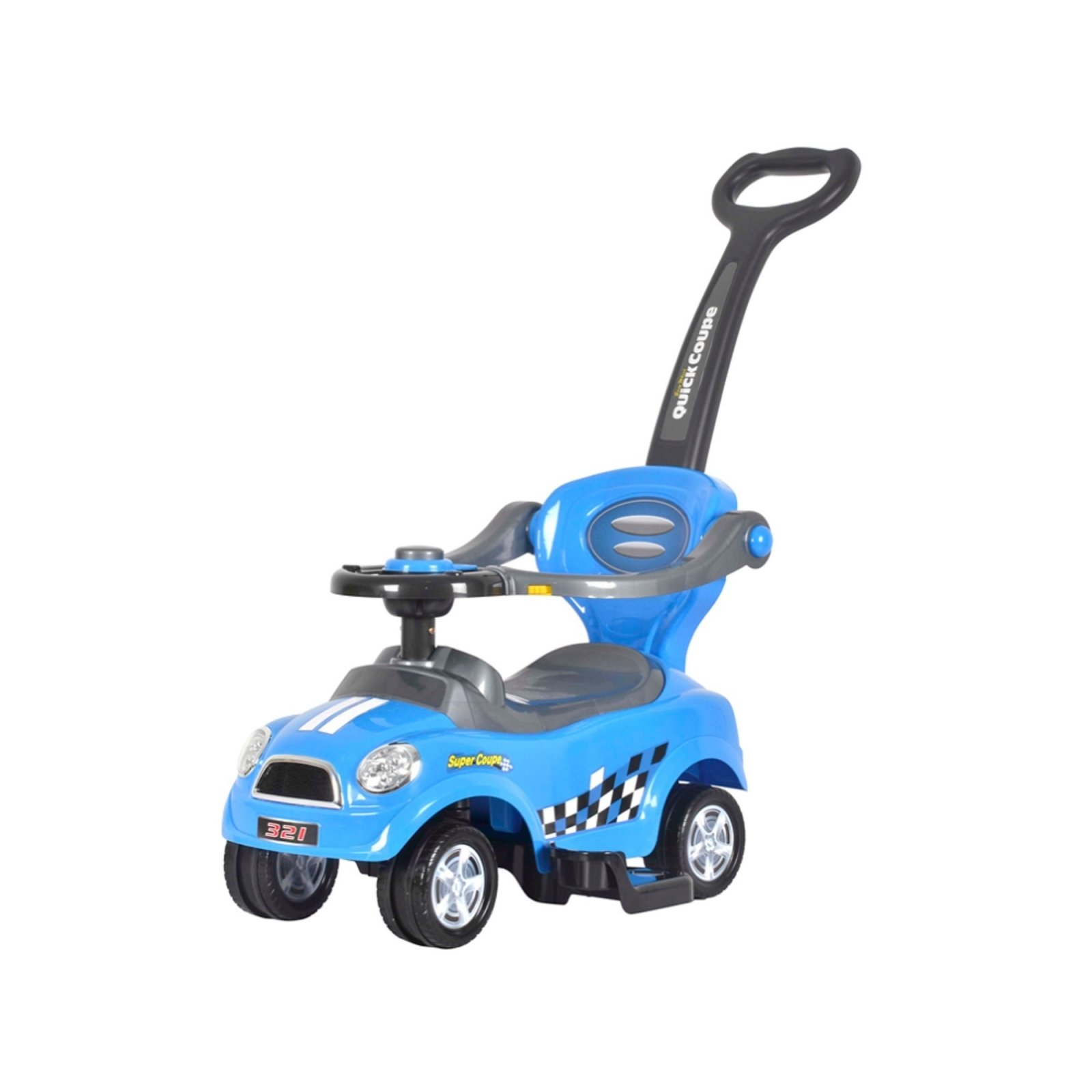 Mini 3 in 1 Stroller, Push Car, Ride On Car Blue