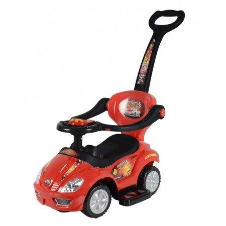 Mini 3 in 1 Stroller, Push Car, Ride On Car Red