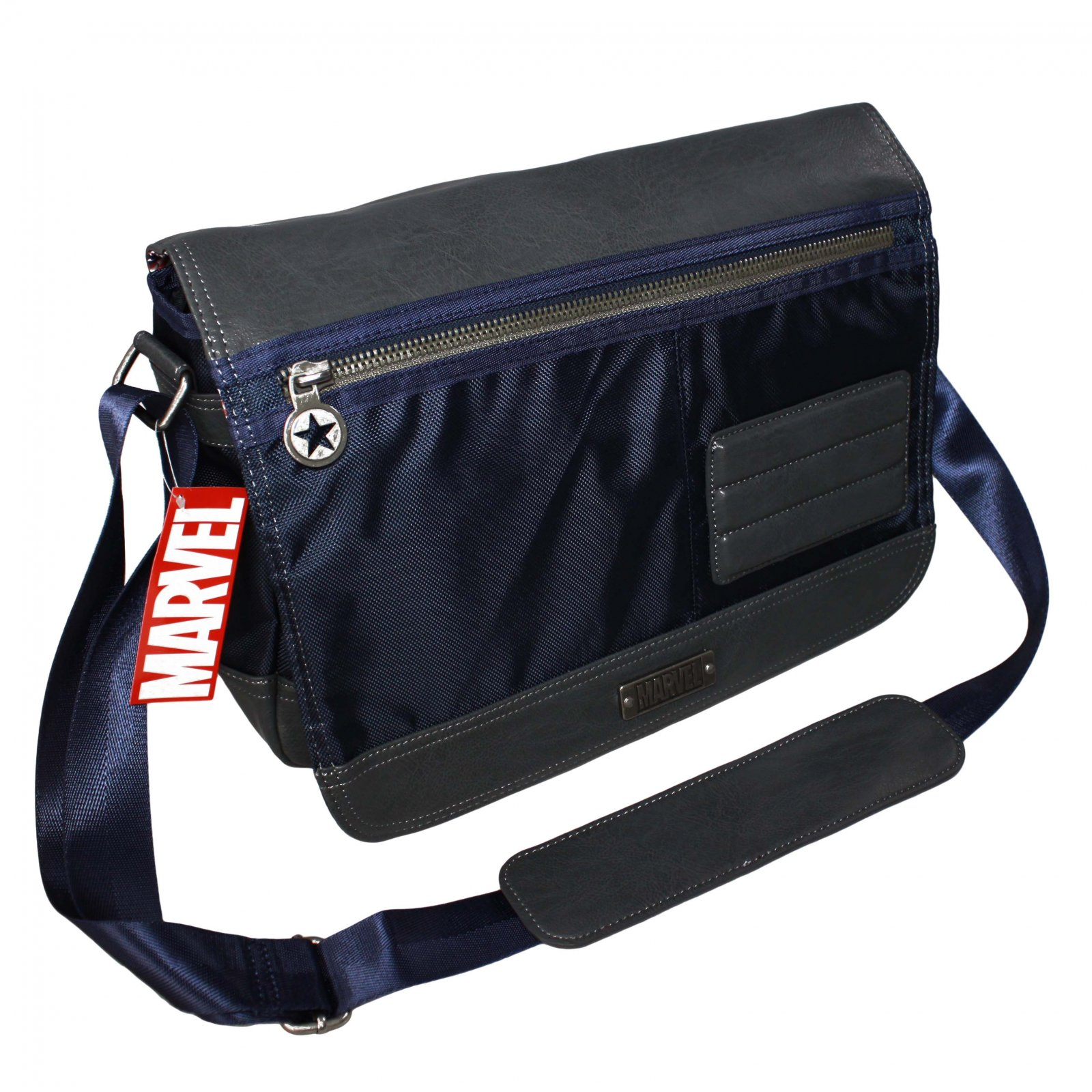 Marvel Navy Blue Captain America Legacy Messenger Bag