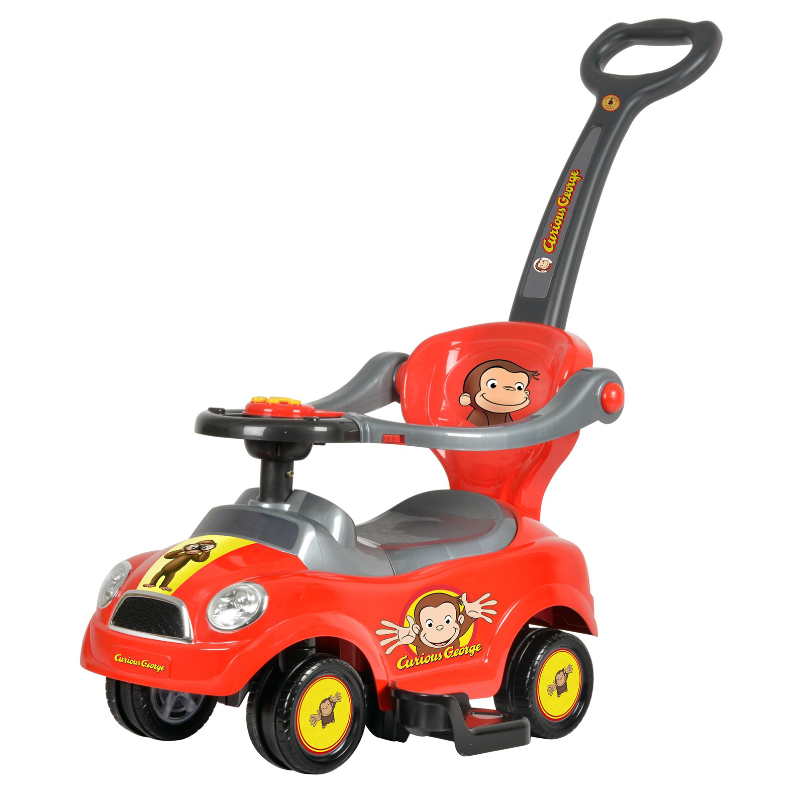 Curious George 3 in 1 Kids Ride On Push Car