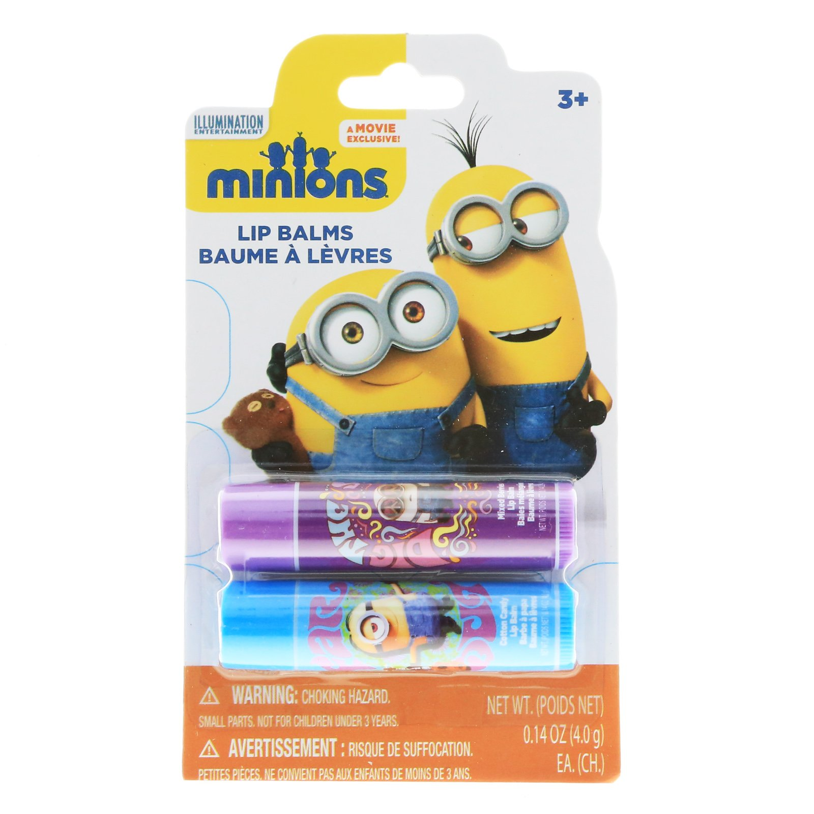 Descpicable Me Minions Lip Balm 2pk With Fun Flavors