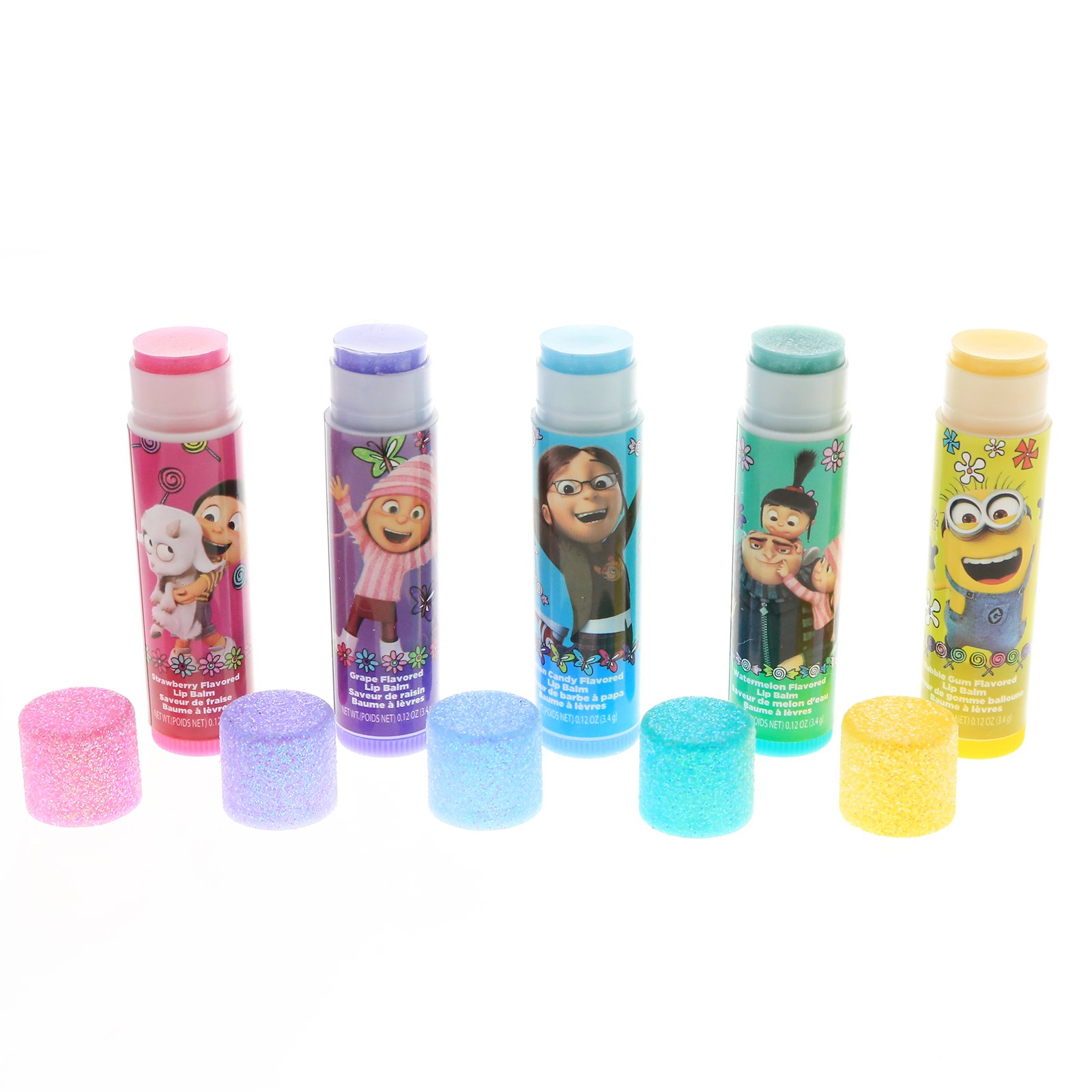 Despicable Me Minions Girls Lip Balm 5pk With Tin Carry Case