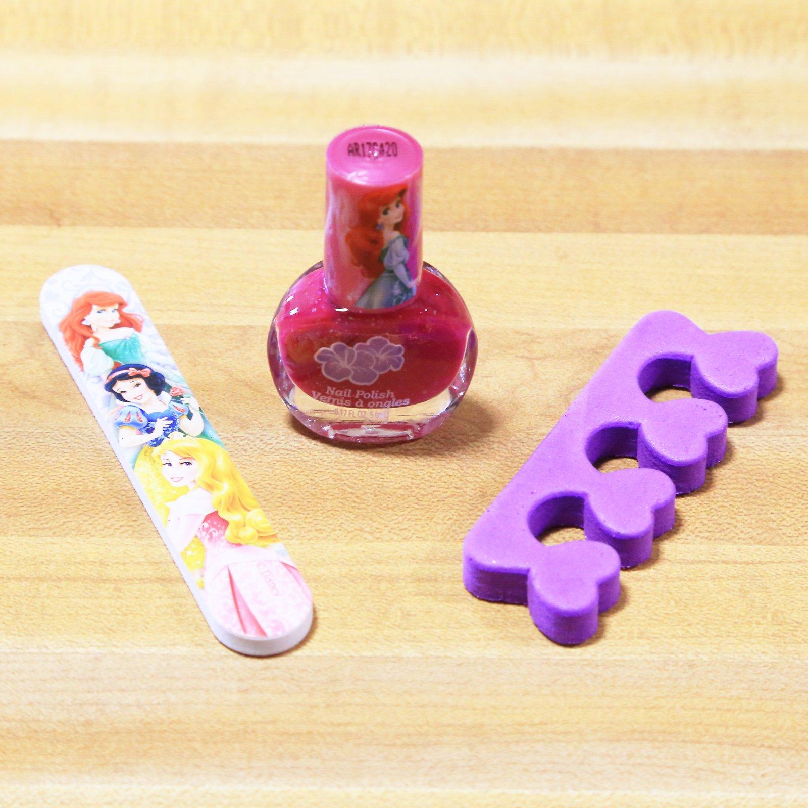 Disney Princess Nail Polish Kit Girls Gift Set Stocking Stuffer - Pink