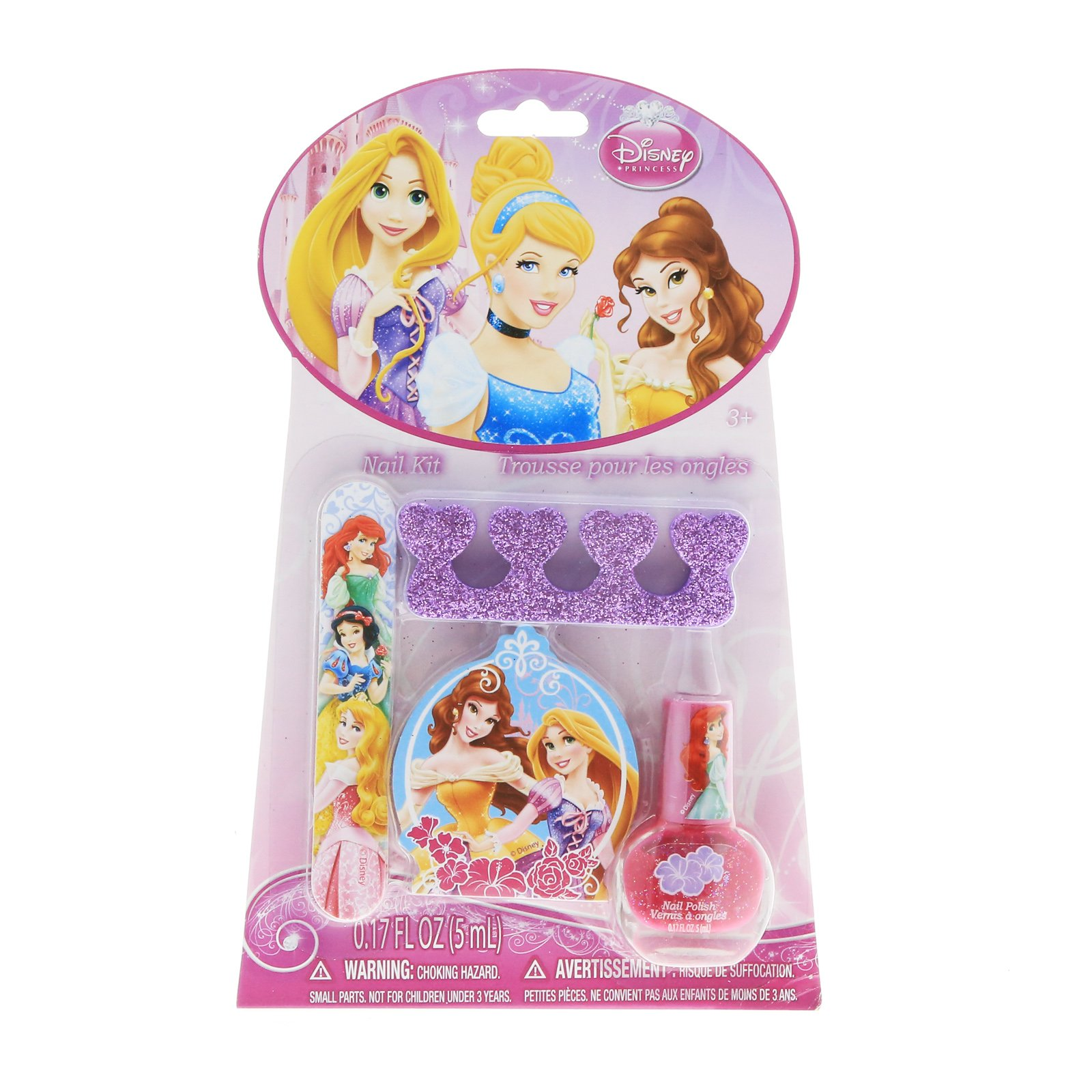 Disney Princess Nail Polish Kit Girls Gift Set Stocking Stuffer - Pink