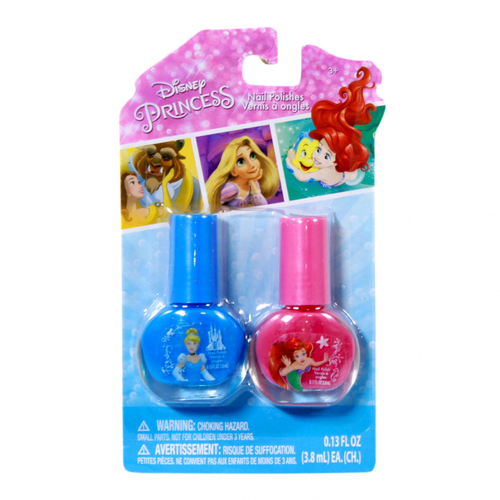 Disney Princess Pink and Blue Nail Polish 2 Piece Set