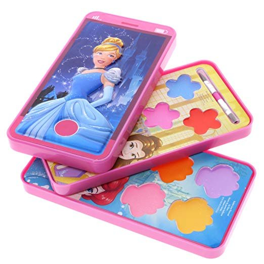 Disney Princess Cell Phone Slid Out Lip Gloss Makeup Cosmetic Set Case