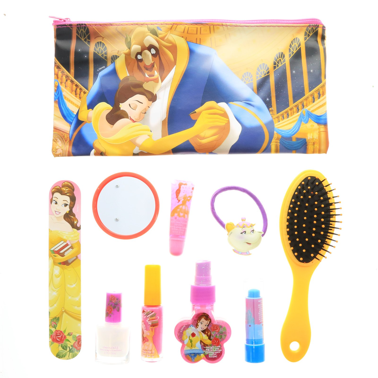 Disney Beauty and the Beast Girls Cosmetic Accessories Gift Set Brush Make Up