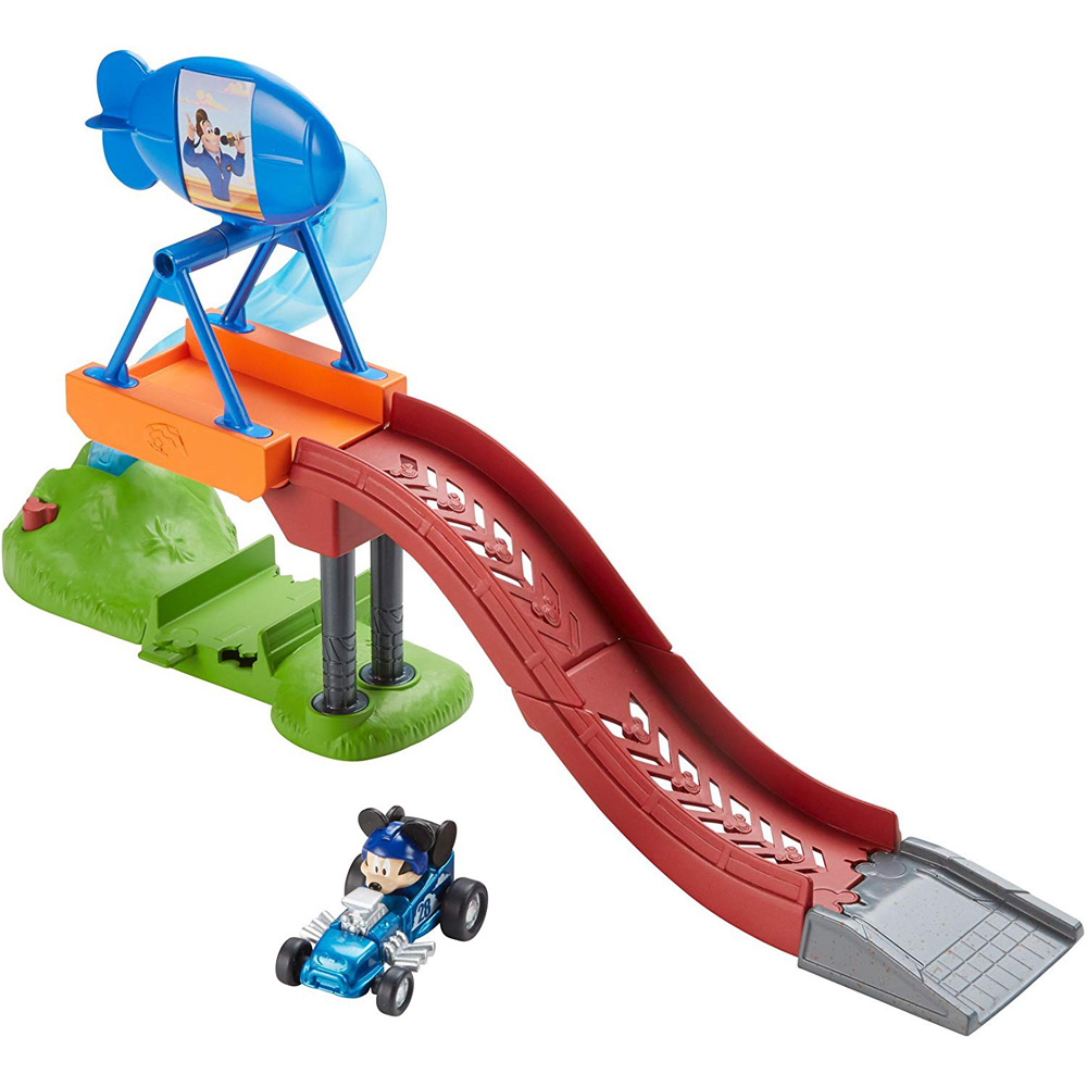 Mickey And The Roadster Racers Balloon Jump Playset With Car