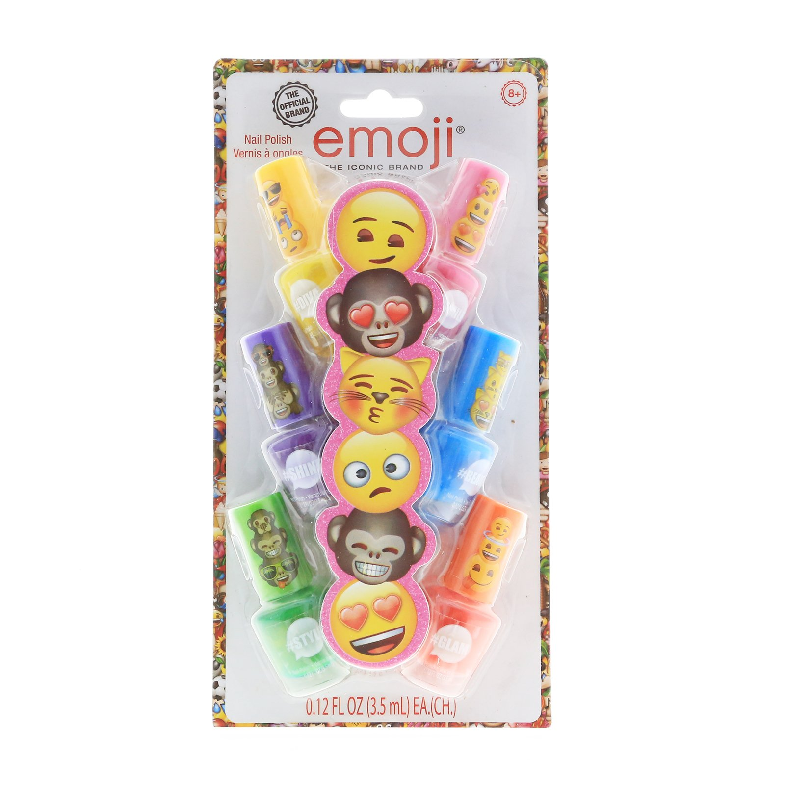 Emoji Licensed Nail Polish Girls Dress Up Party 6pk