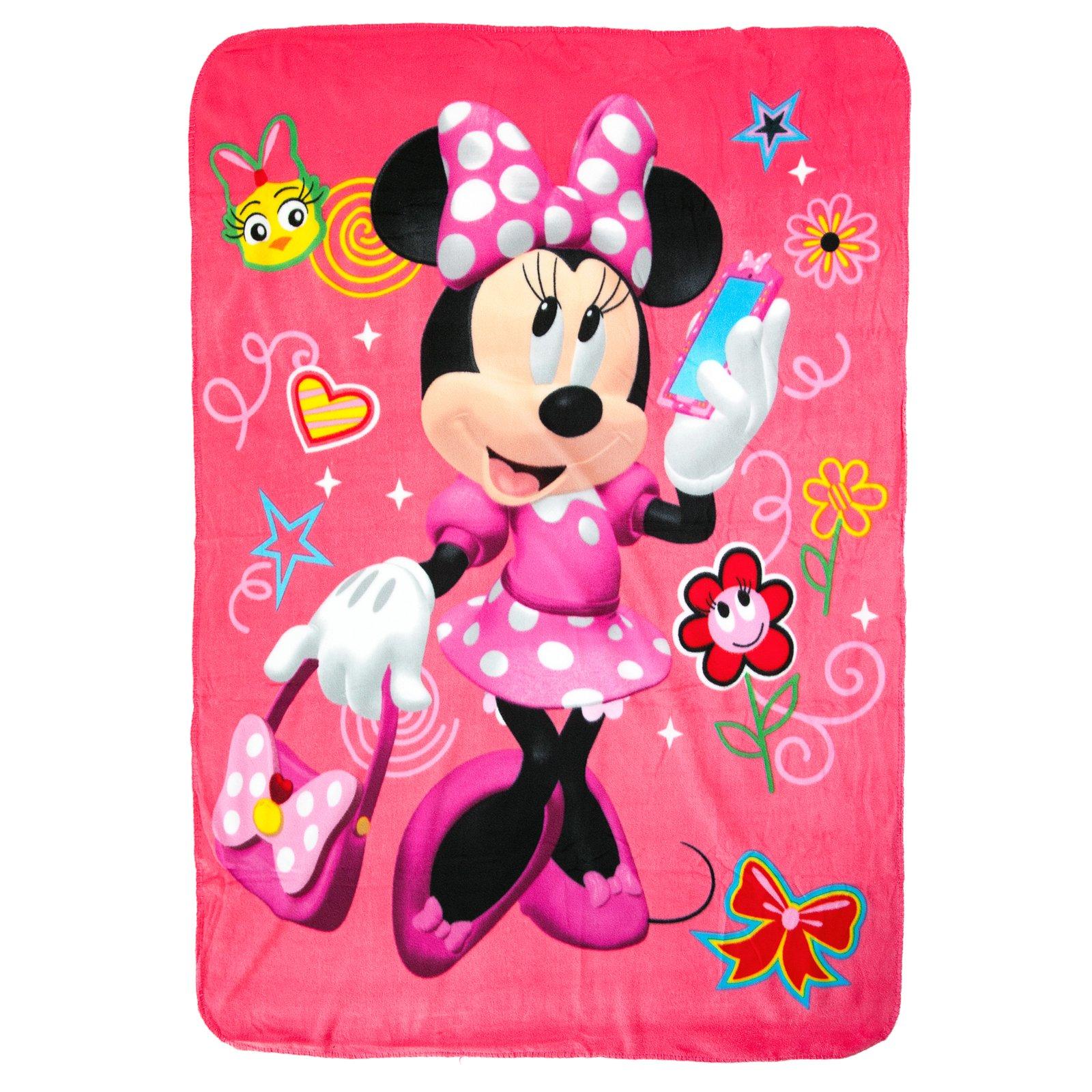 Disney Junior Minnie Mouse Fleece Throw Blanket Kids Home Decor 45 x 60 Inch