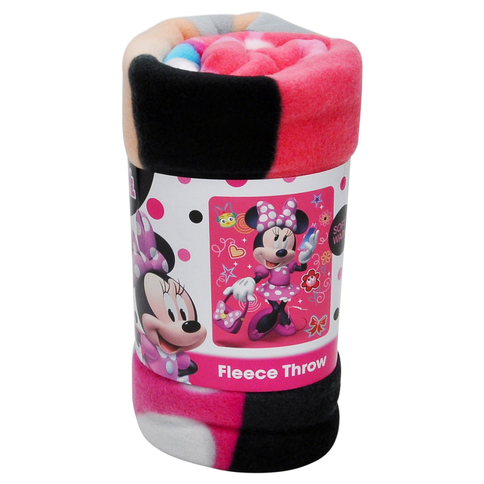 Disney Junior Minnie Mouse Fleece Throw Blanket Kids Home Decor 45 x 60 Inch