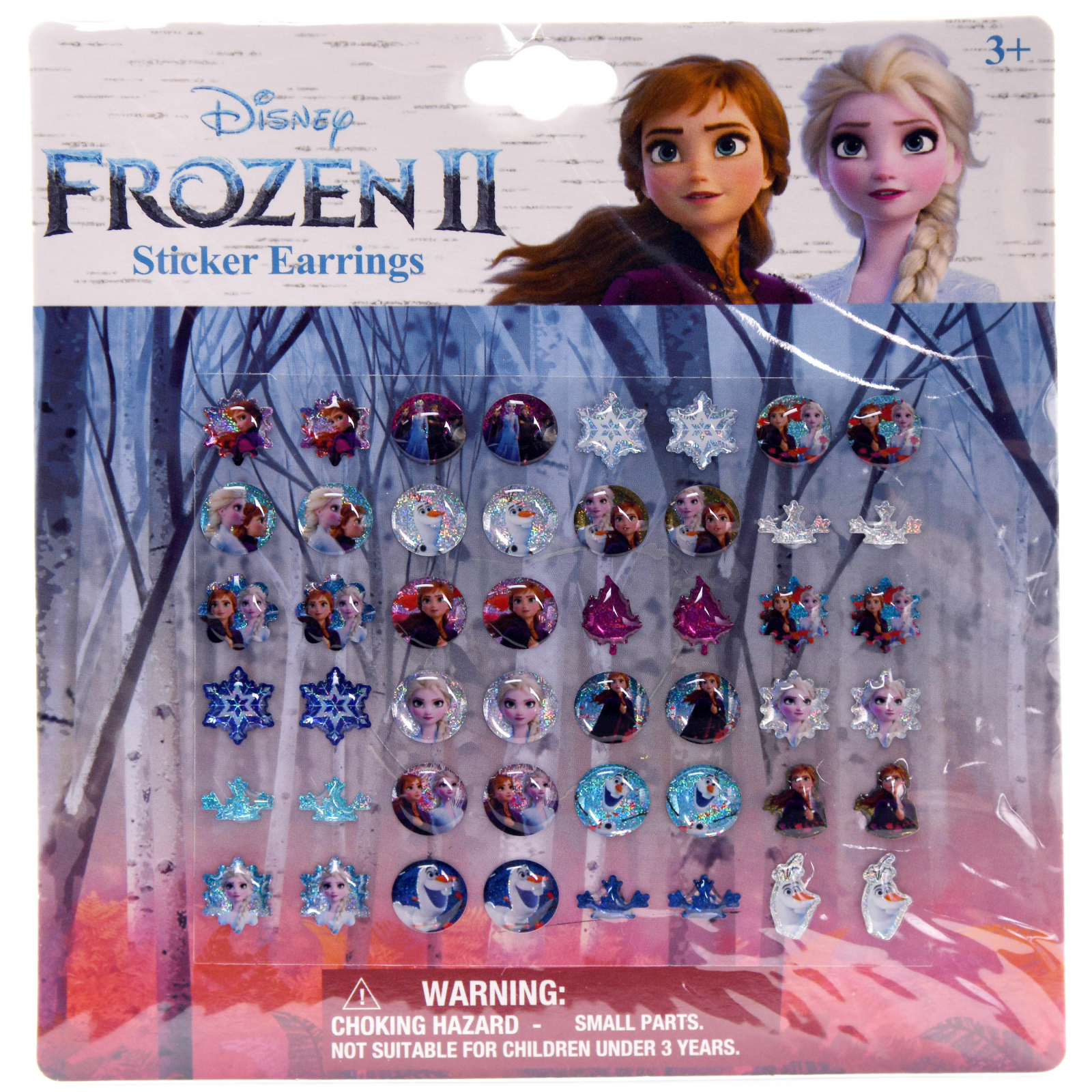 Frozen 2 Stick On Earrings For Kids Assorted Designs 24 Pair