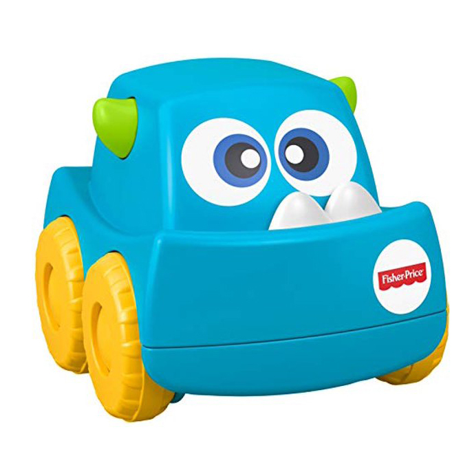 Fisher Price Mini Monster Truck Roller Push Toy Car - Blue