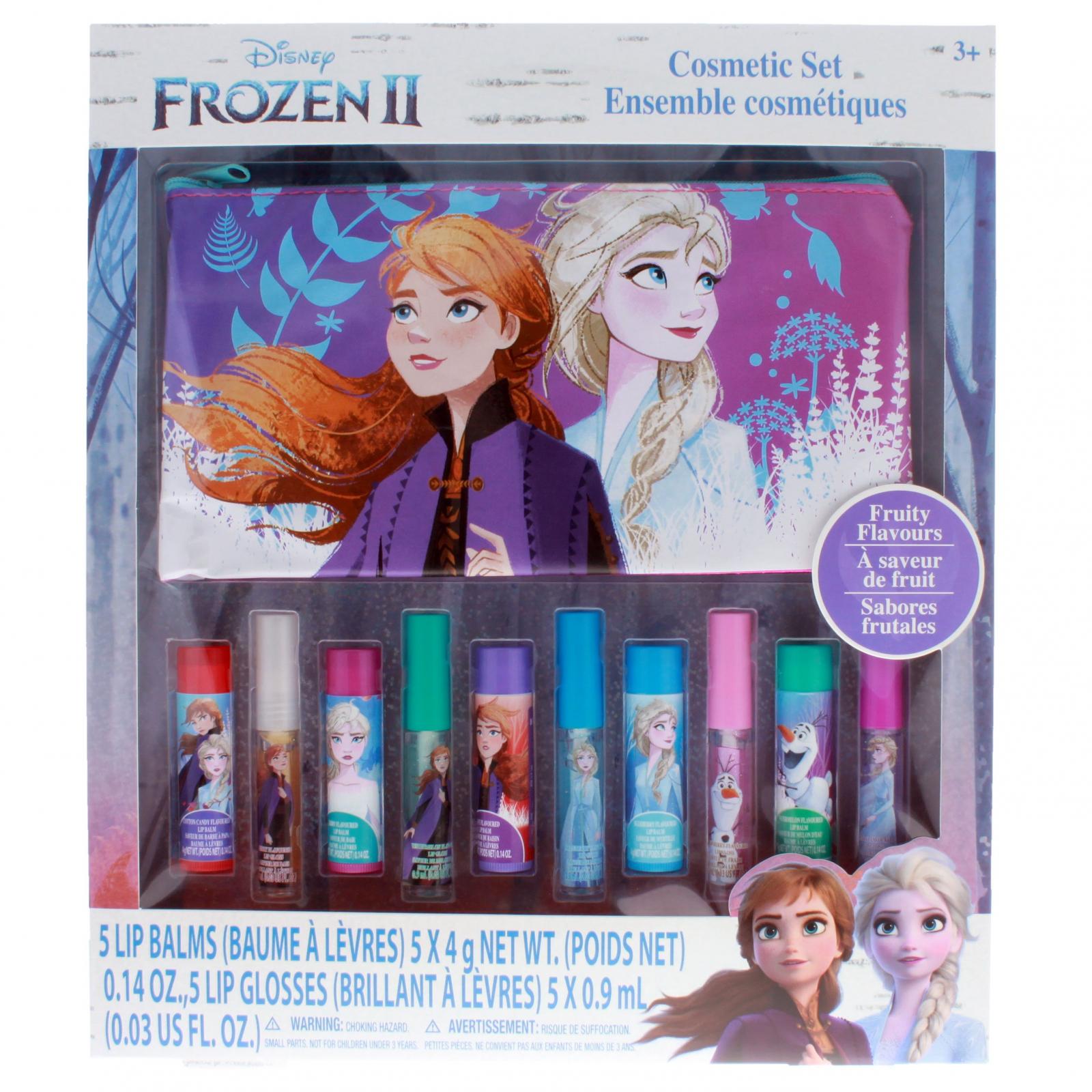 Disney Frozen 2 Girls Cosmetics Makeup Lip Gloss Gift Set