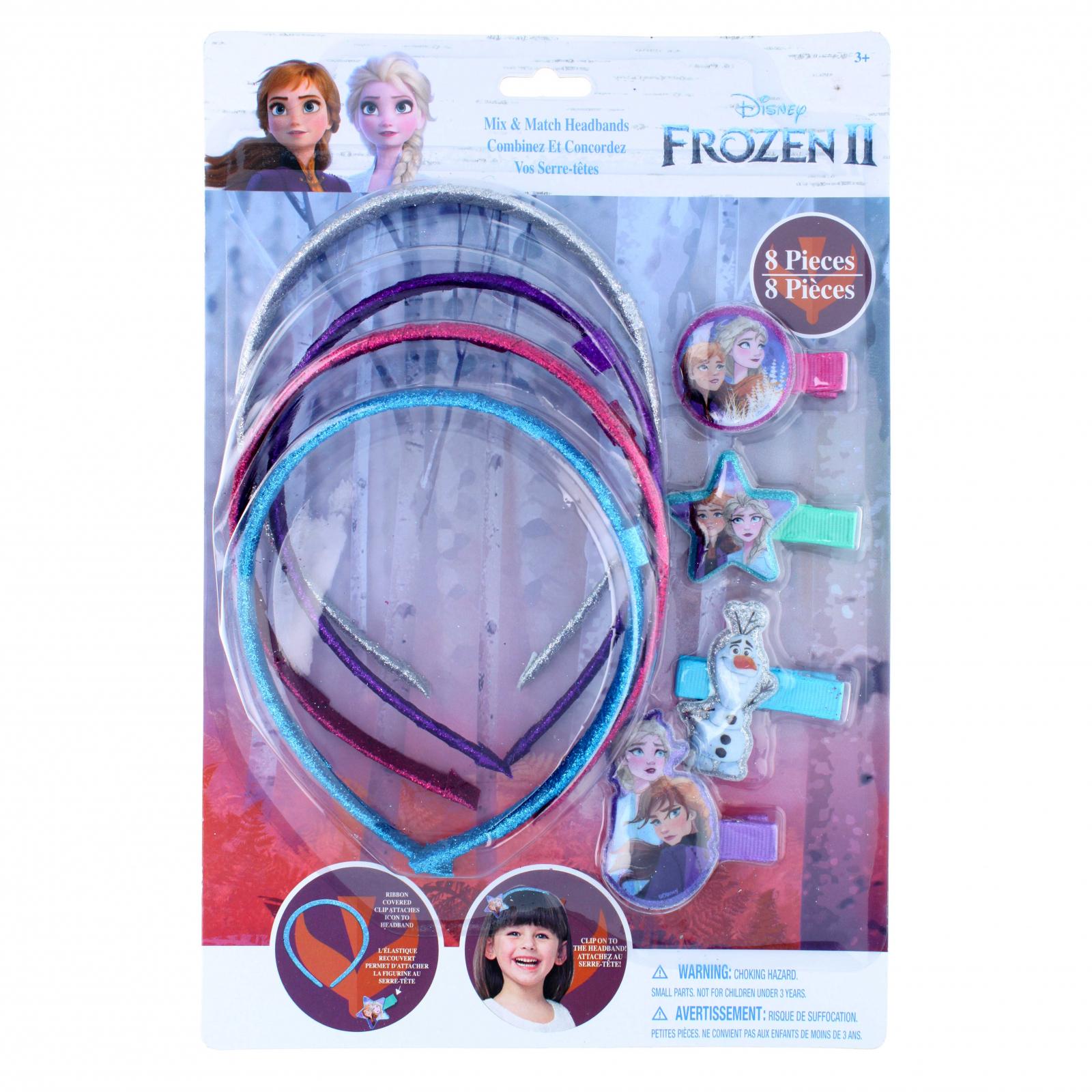 Disney Frozen 2 Glitter 8 Piece Headbands and Hair Clips