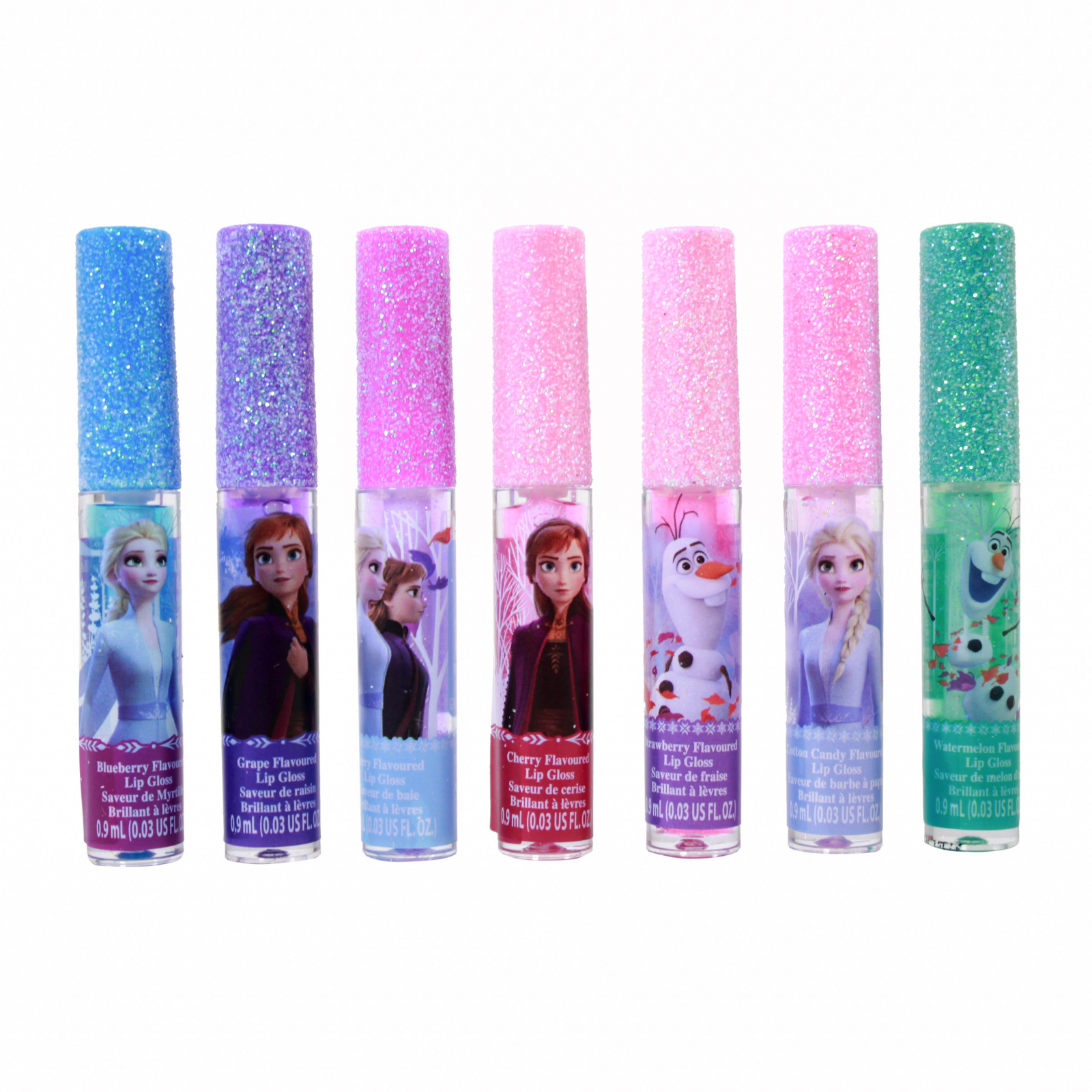 Disney Frozen 2 Girls Flavored Lip Gloss Gift Set 7 Pieces