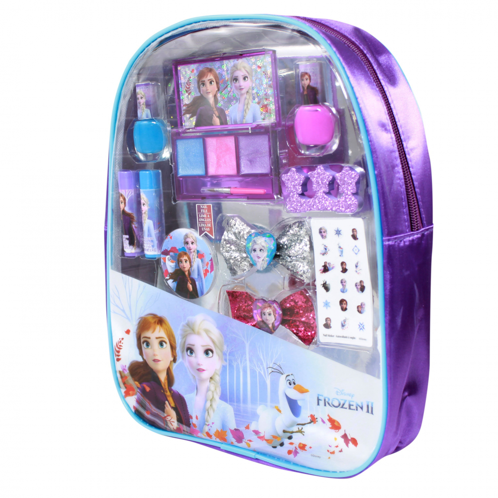 Disney Frozen 2 Girls PVC Backpack Cosmetics Gift Set 10pc