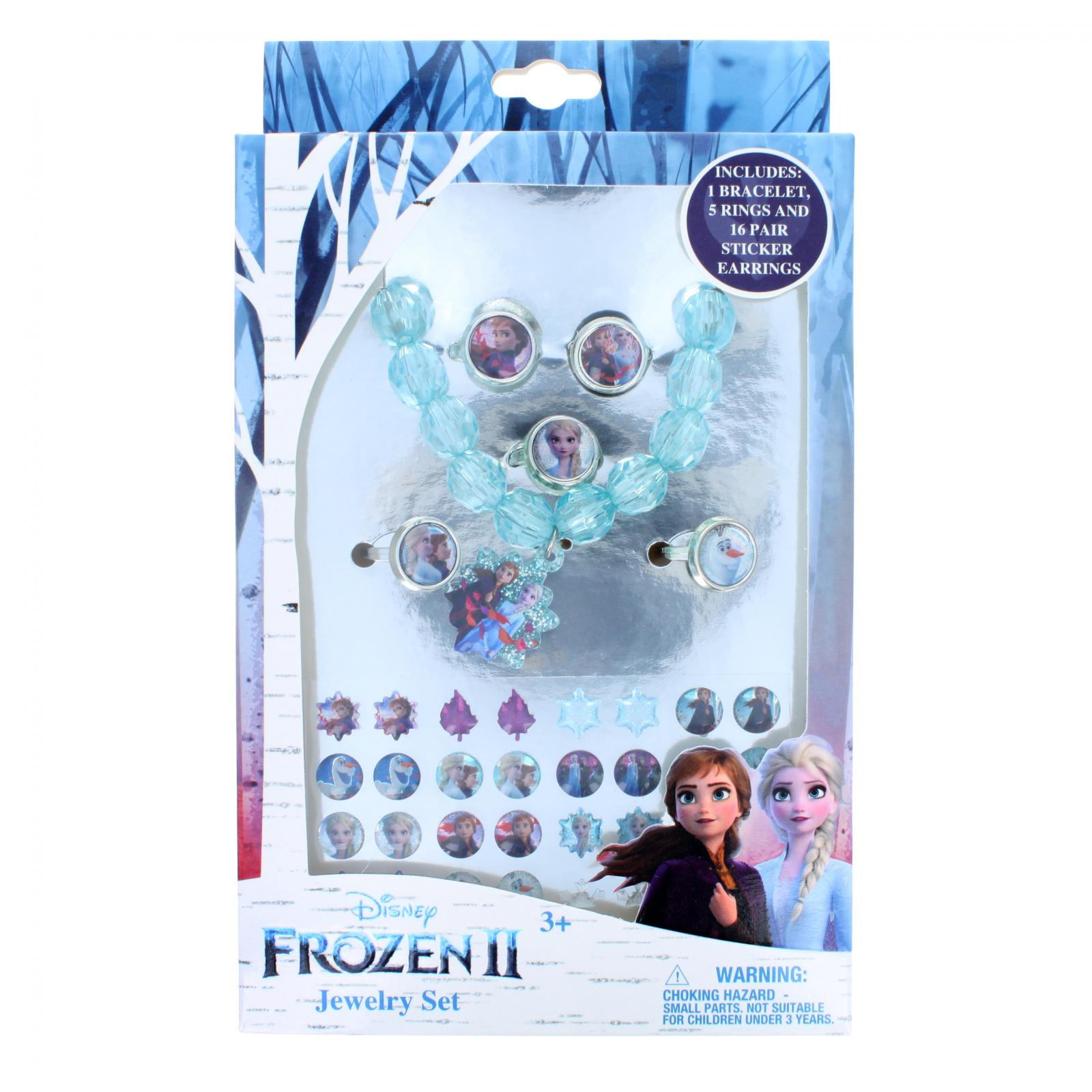 Disney Frozen 2 Girls Costume Jewelry Set Bracelet Rings