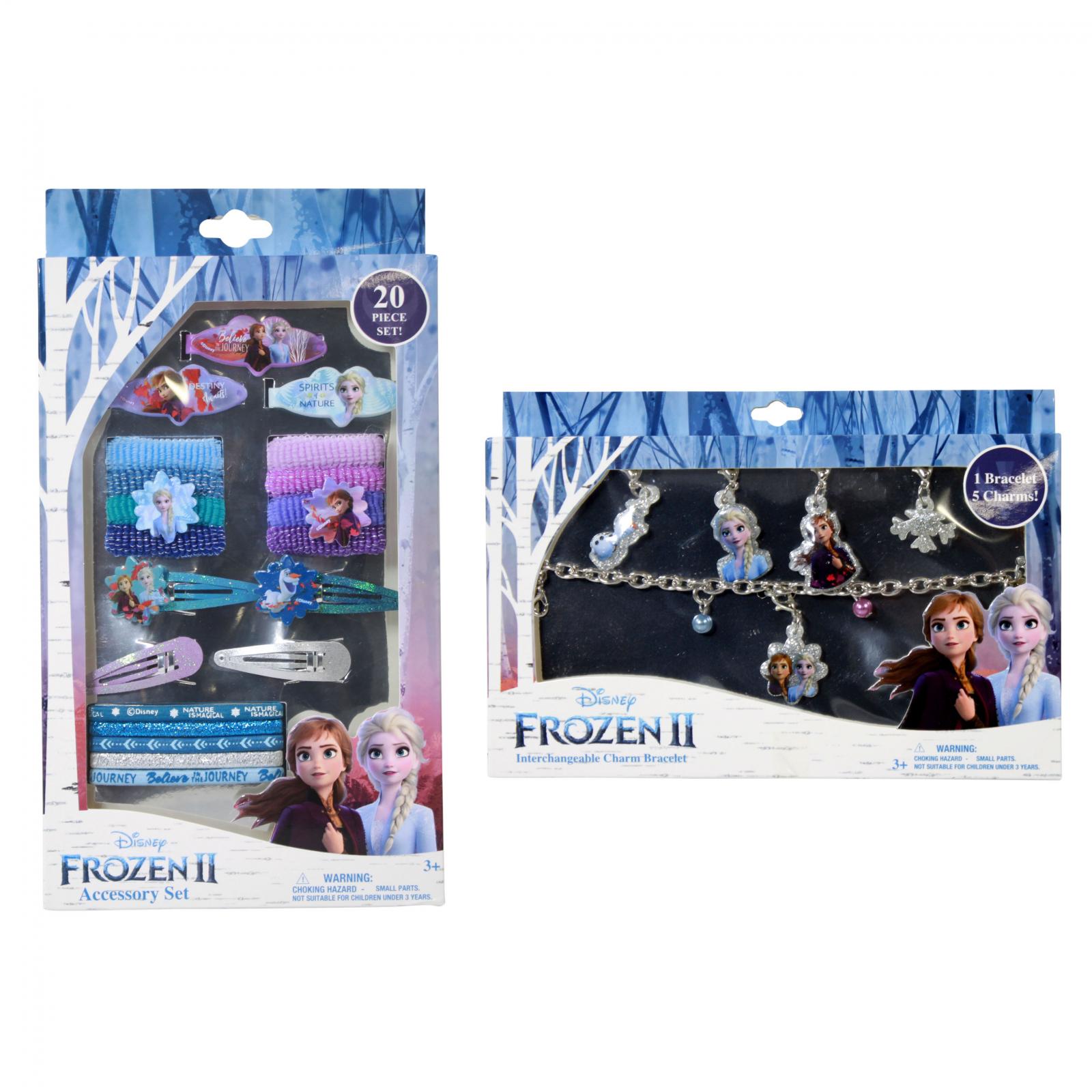 Disney Frozen 2 Girls Dress Up Gift Set Charm Bracelet 26pc