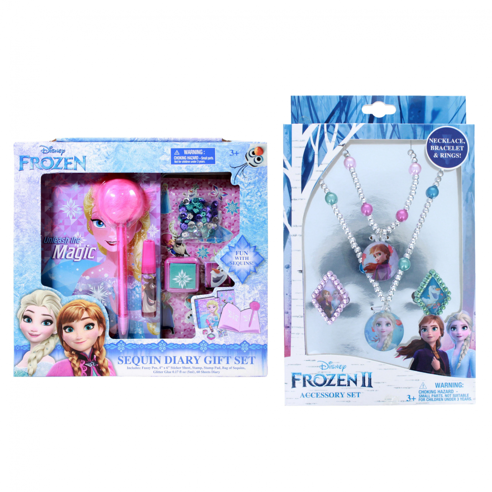 Frozen 2 Girls Sequin Diary Jewelry Gift Set 11 Pieces
