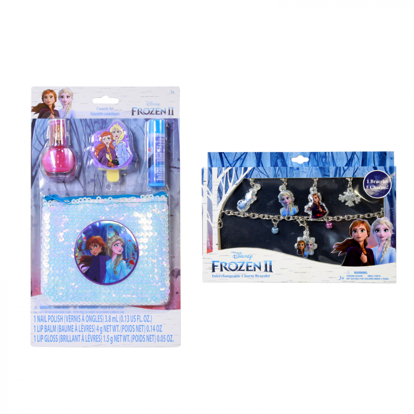 Disney Frozen 2 Girls Dress Up Gift Set Charm Bracelet 10pc