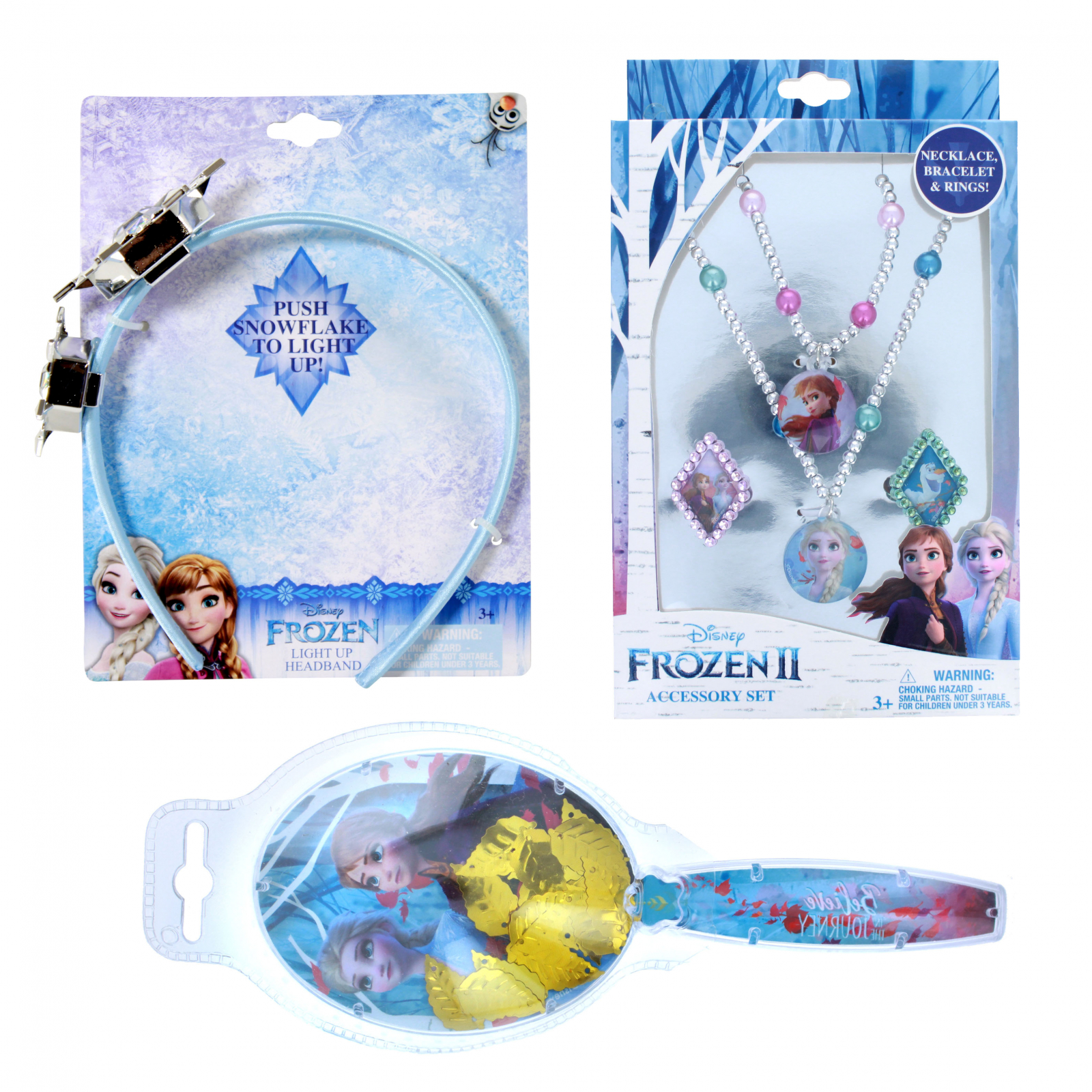 Disney Frozen 2 Girls Dress Up Jewelry Gift Set 6pc