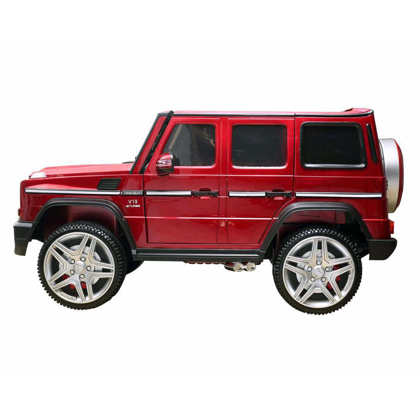 KidPlay Licensed Kids Ride On Car Mercedes G65 12V Battery Powered Vehicle - Red