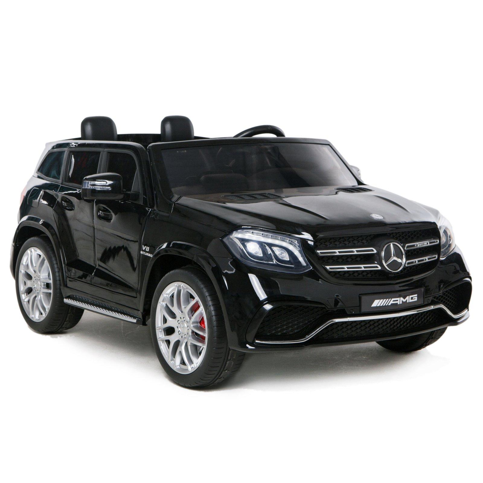 KidPlay Licensed Mercedes GLS63 Kids 2 Seater Ride On Car Working Lights - Black