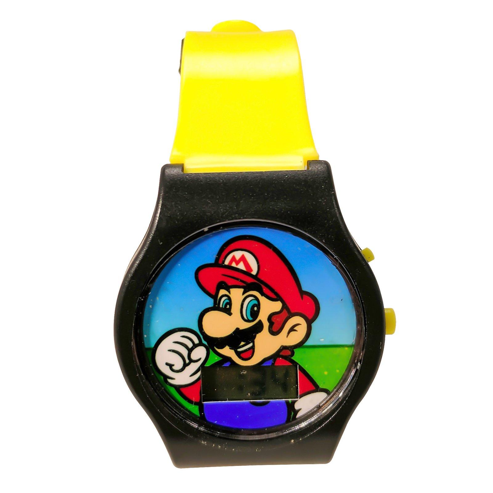 Nintendo Super Mario LCD Wrist Watch Digital Adjustable Strap Yellow