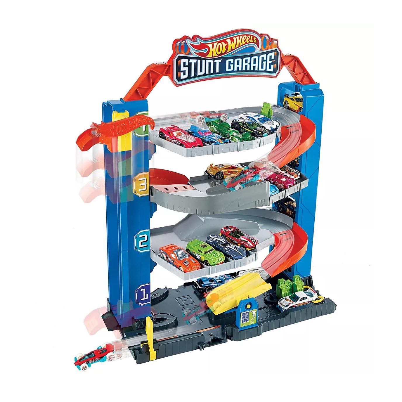 Hot Wheels City Stunt Multilevel Garage Die Cast Car Playset