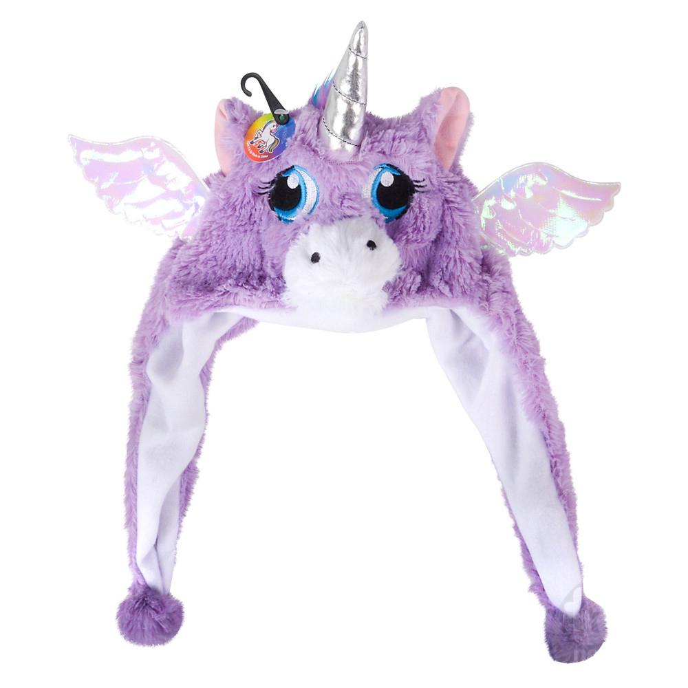 TychoTyke Kids Unicorn Plush Hat with Sparkle Ears - Purple