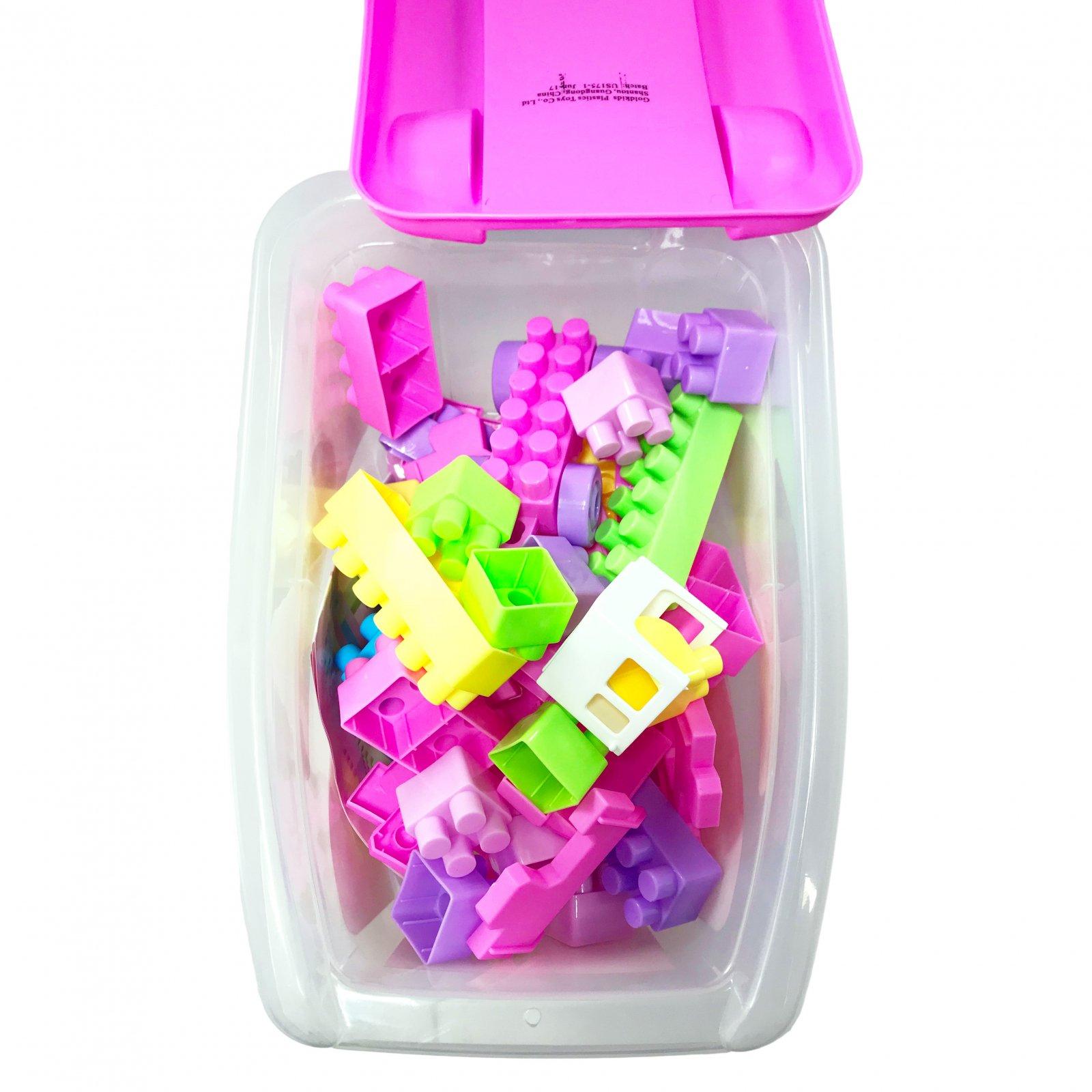 55 Piece Educational Blocks Cart Play Set - Pink