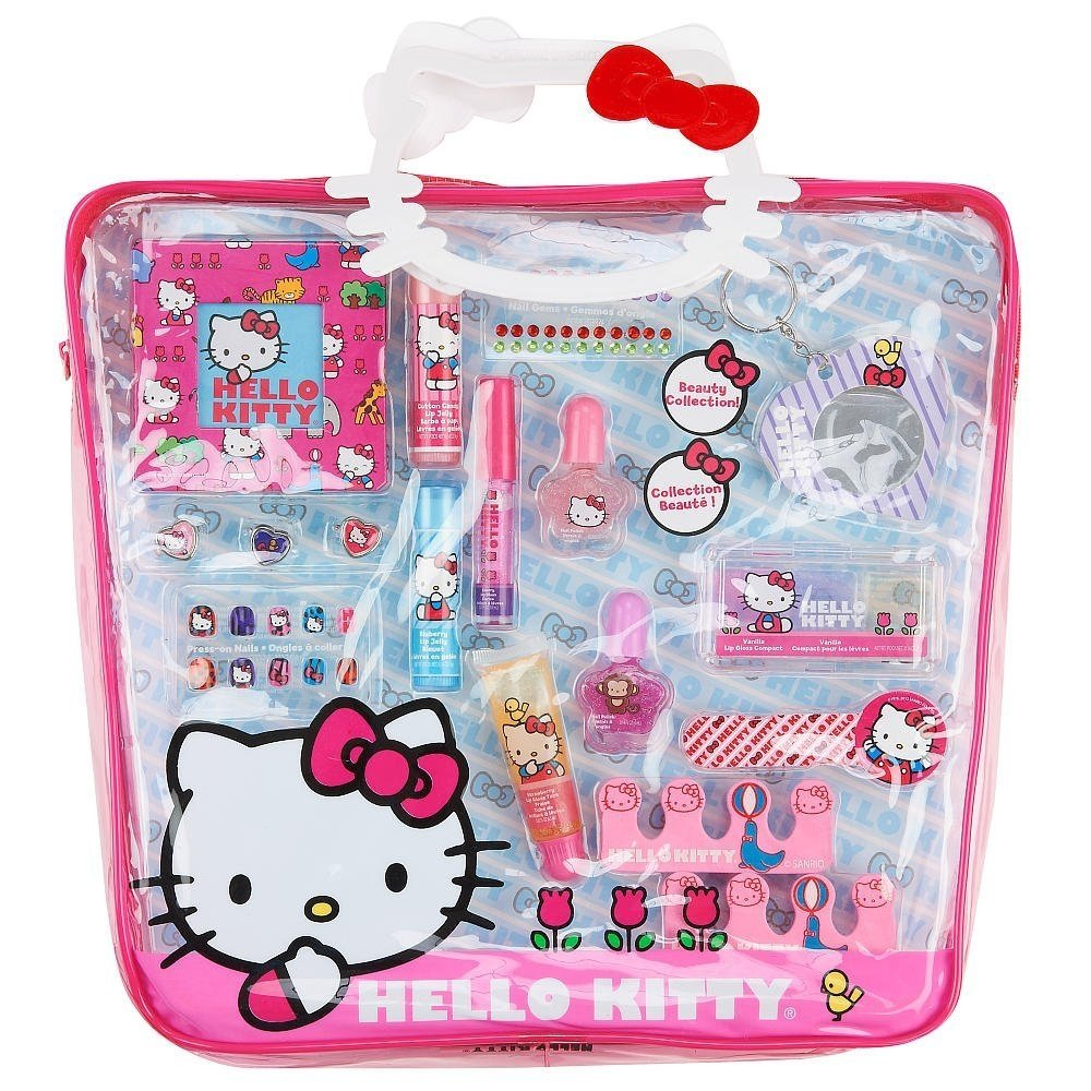 Sanrio Hello Kitty Make Up Pretend Play Gift Set Purse Tote