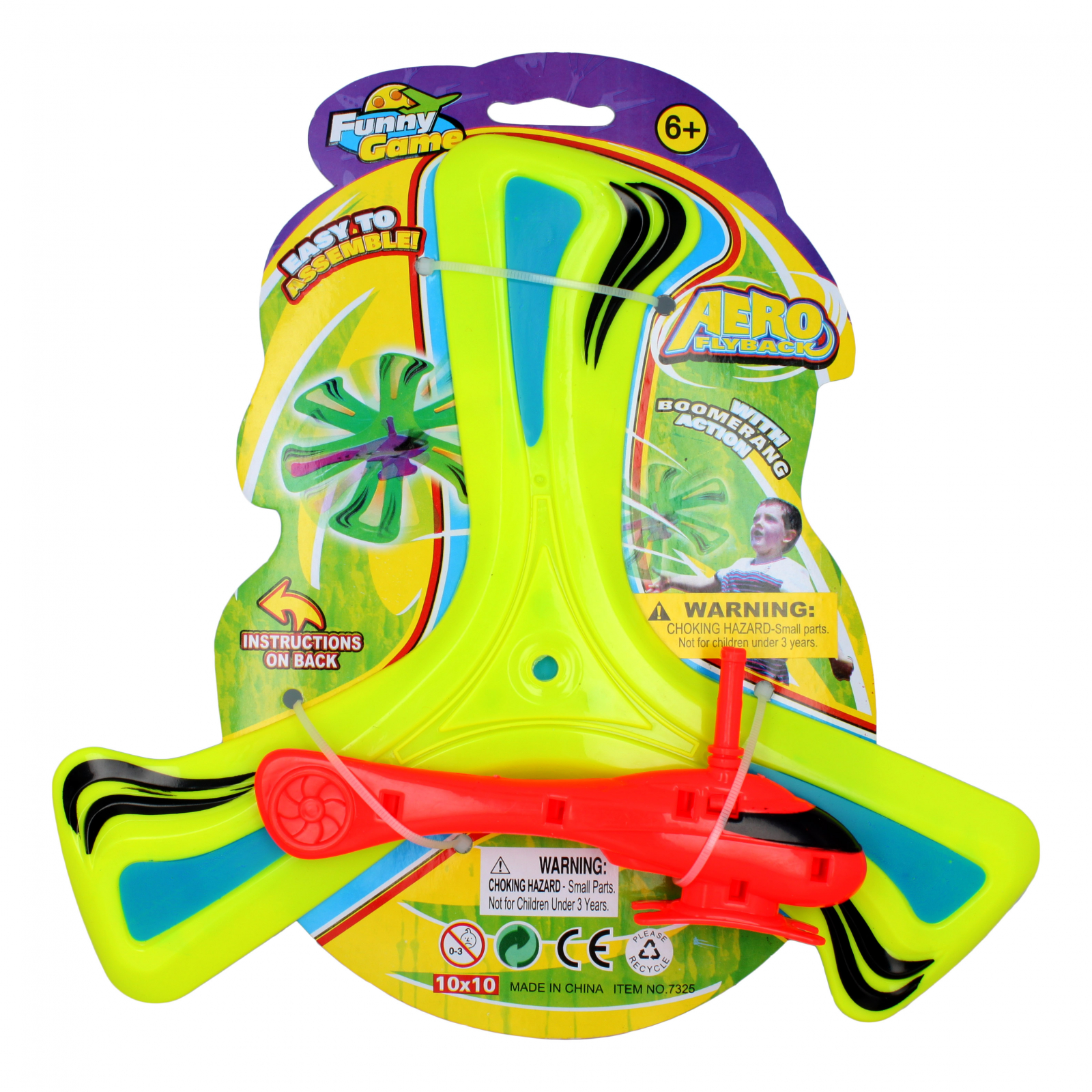 2 Pack Kidplokio Helicopter Flying Boomerang Action Disc Kids Toy