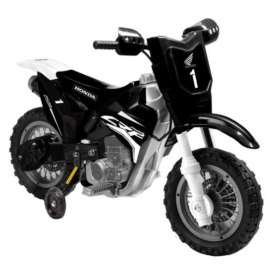 Mini Dirt Bike Motorcycle 6V Kids Battery Powered Ride On Car in Black